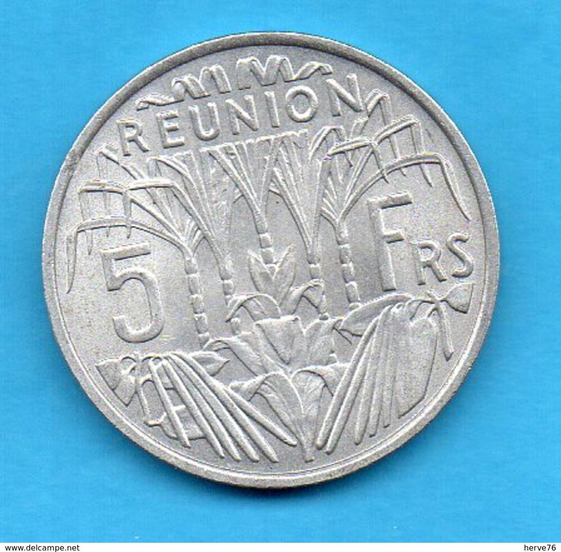 Ile De La Réunion - Pièce 5 Francs Aluminium - 1971 - Réunion
