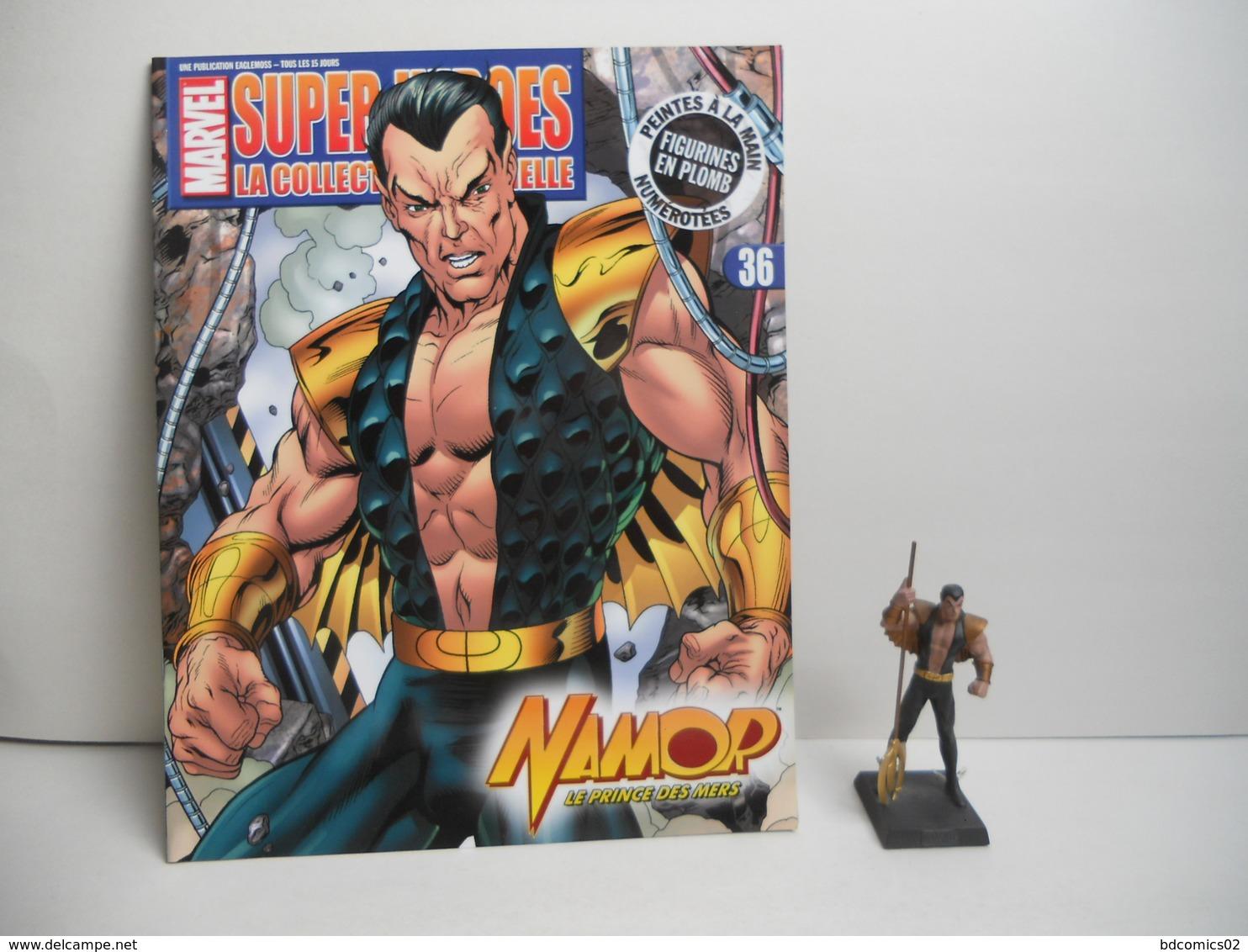 Namor Figurine N°36 En Plomb Eaglemoss AVEC FASCICULE SANS BOITE TBE - Marvel Heroes