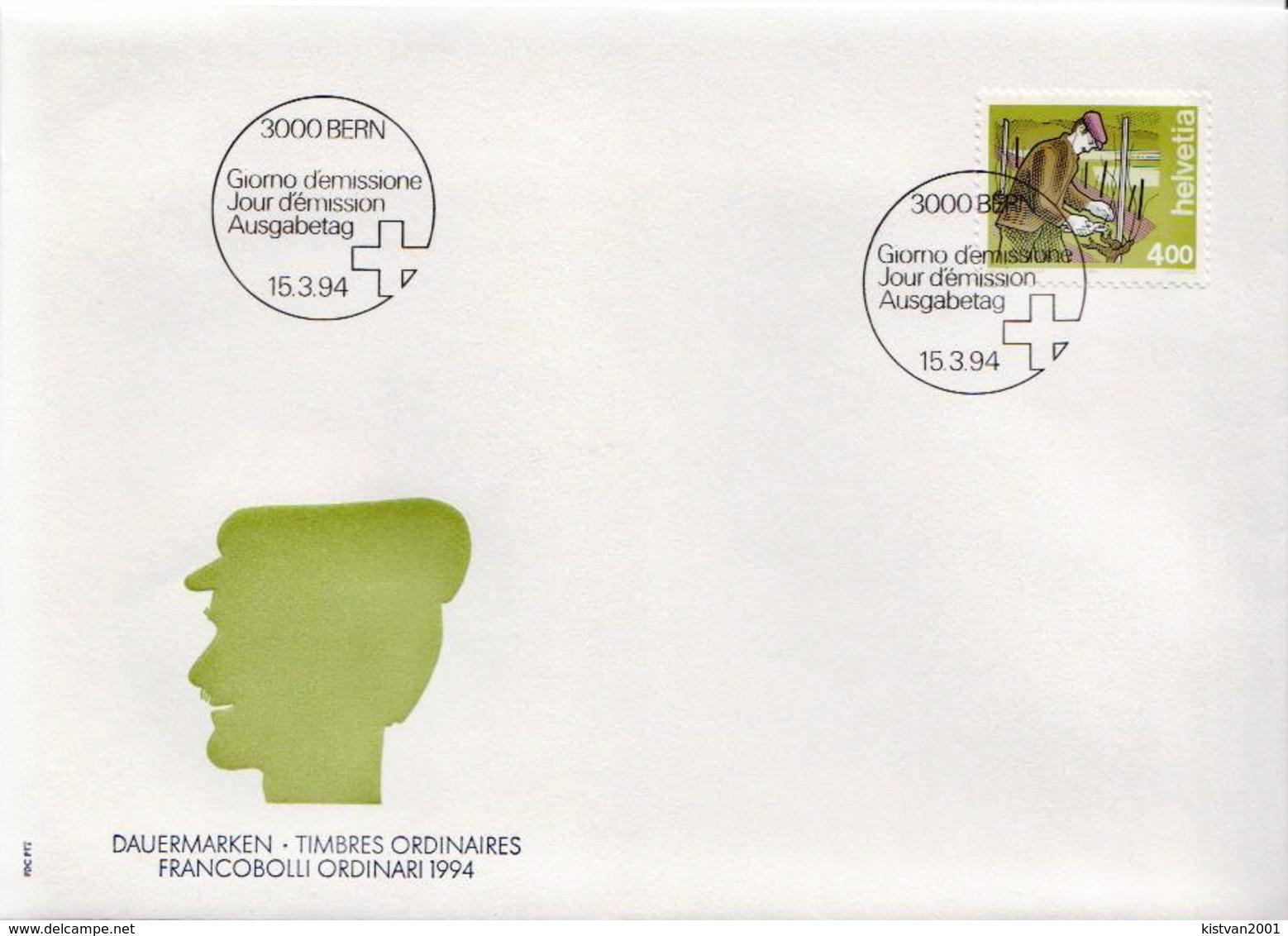 Switzerland Stamp On FDC - Jobs