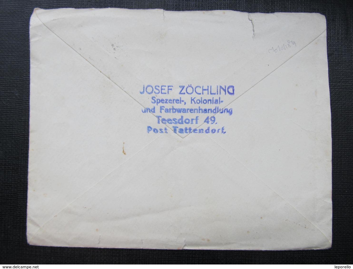 BRIEF Tattendorf - Payerbach J.Zöchling Teesdorf 1914 ///  D*36466 - 1850-1918 Imperium