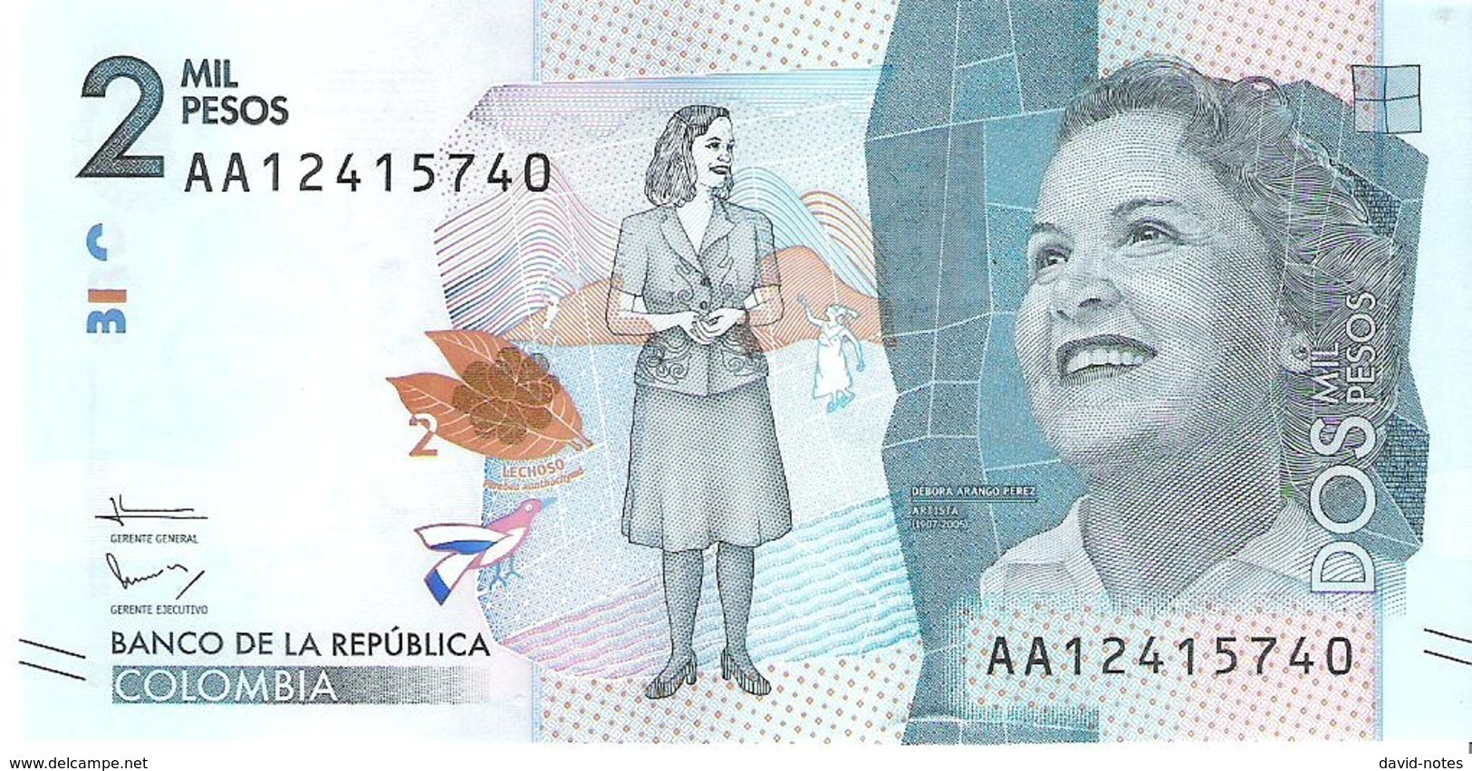 Colombia - Pick 458 - 2000 Pesos 2015 - 2016 - Unc - Colombia