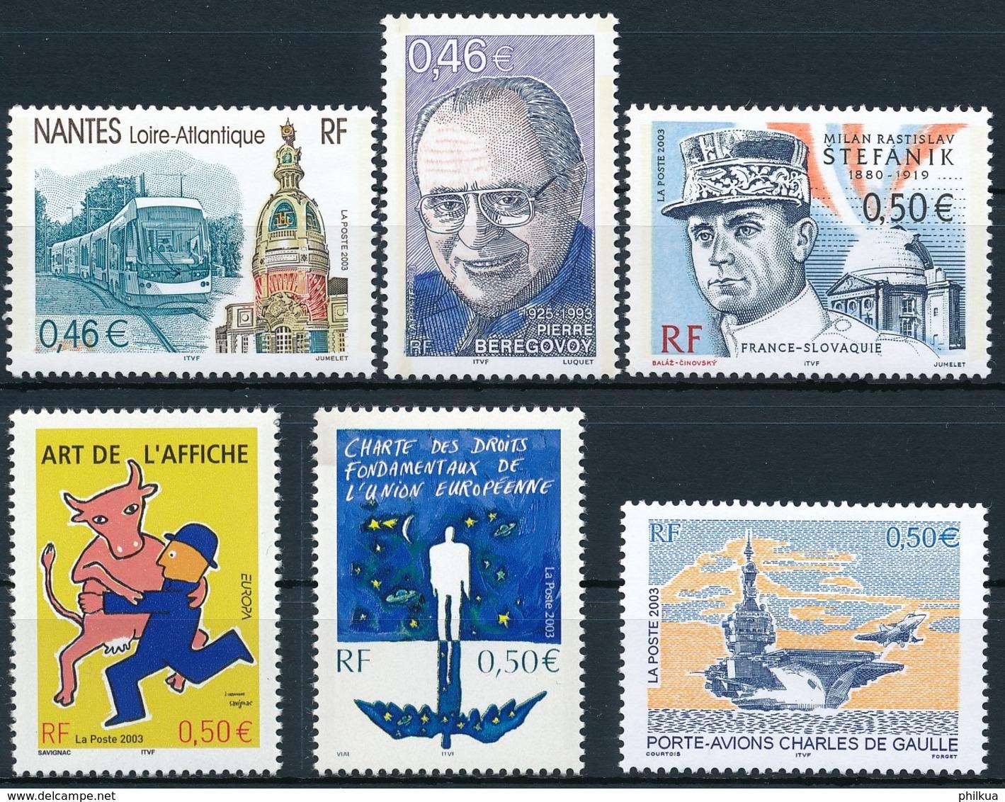 3691-3696   Postfrisch/** - Unused Stamps