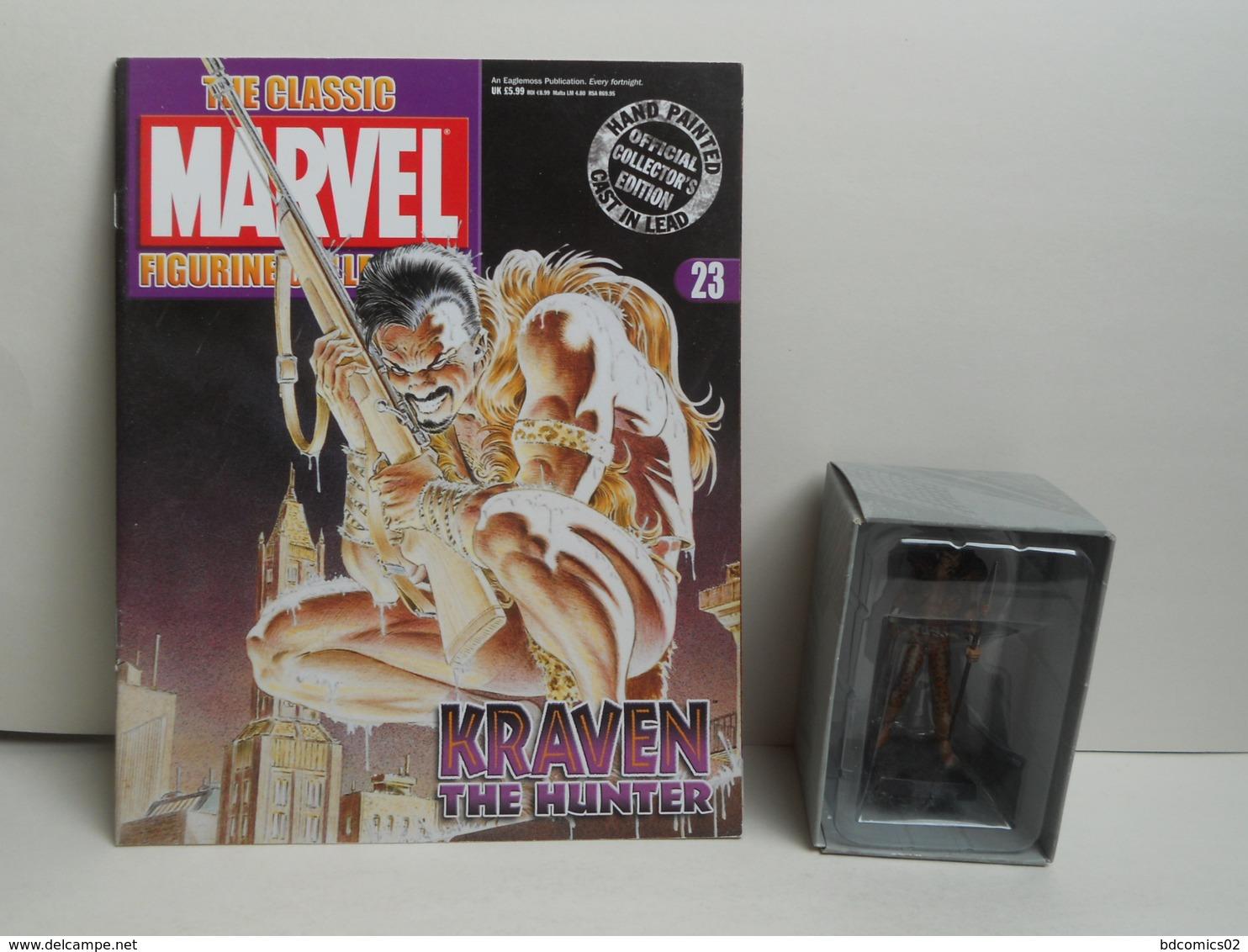 KRAVEN  Figurine N°23 En Plomb Eaglemoss AVEC FASCICULE ET BOITE TBE - Marvel Heroes