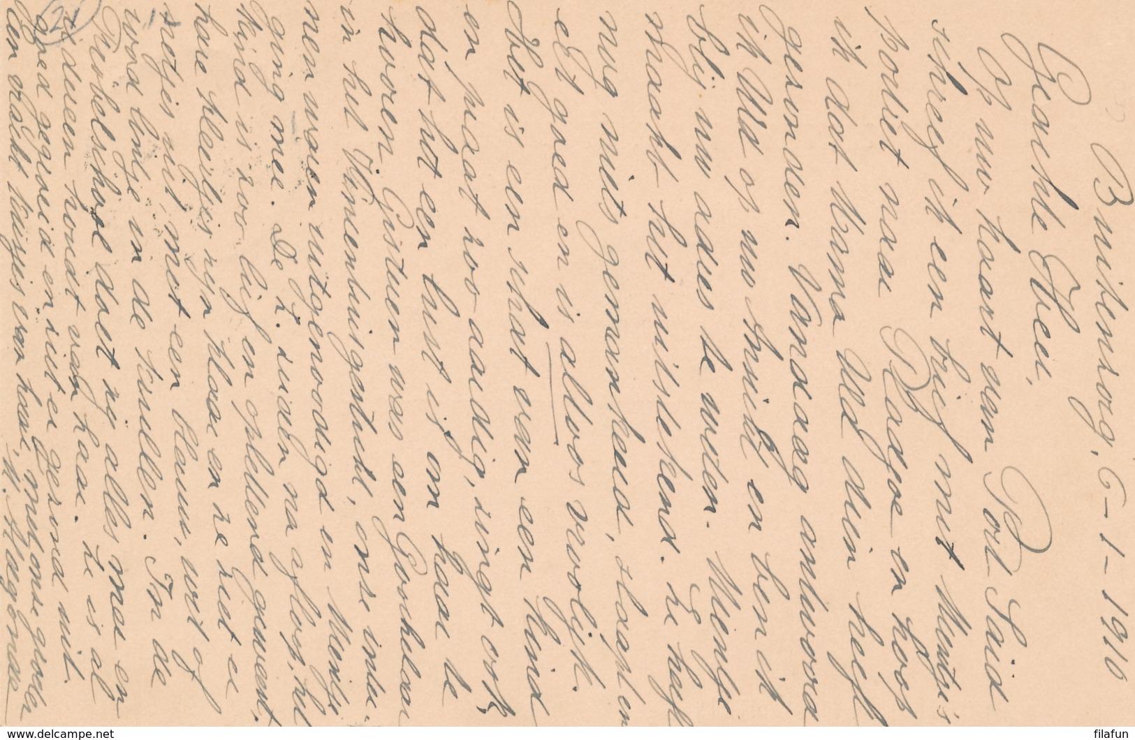 Nederlands Indië - 1910 - 5 Cent Cijfer, Briefkaart G17 Van Grootrond BUITENZORG Naar Den Helder / Nederland - Nederlands-Indië