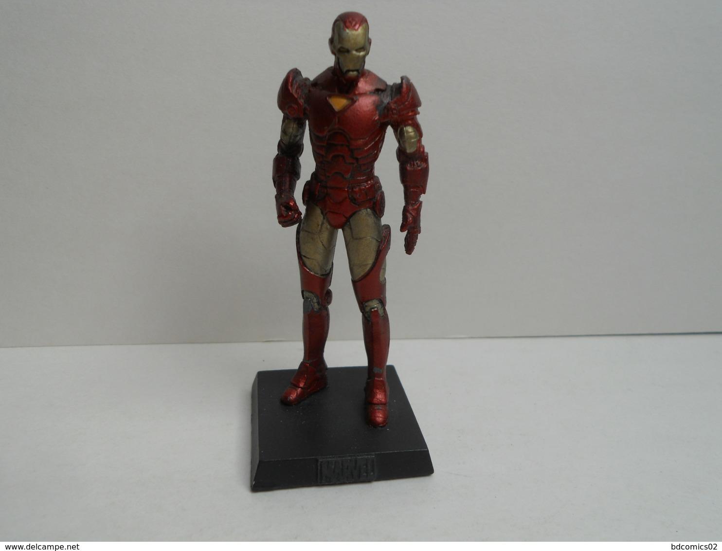 IRON MAN   Figurine N°12 En Plomb Eaglemoss AVEC FASCICULE Sans BOITE - Marvel Heroes