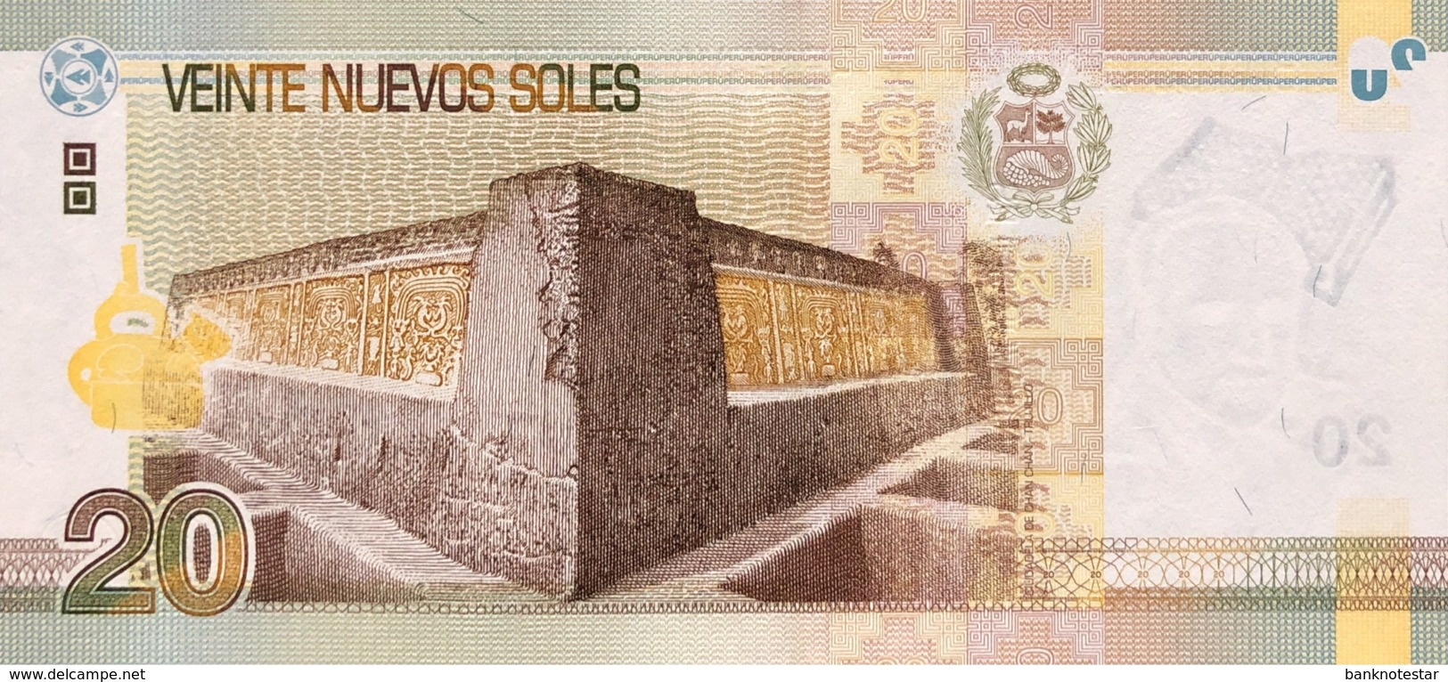 Peru 20 Nuevos Soles, P-183 (13.8.2009) - UNC - Pérou