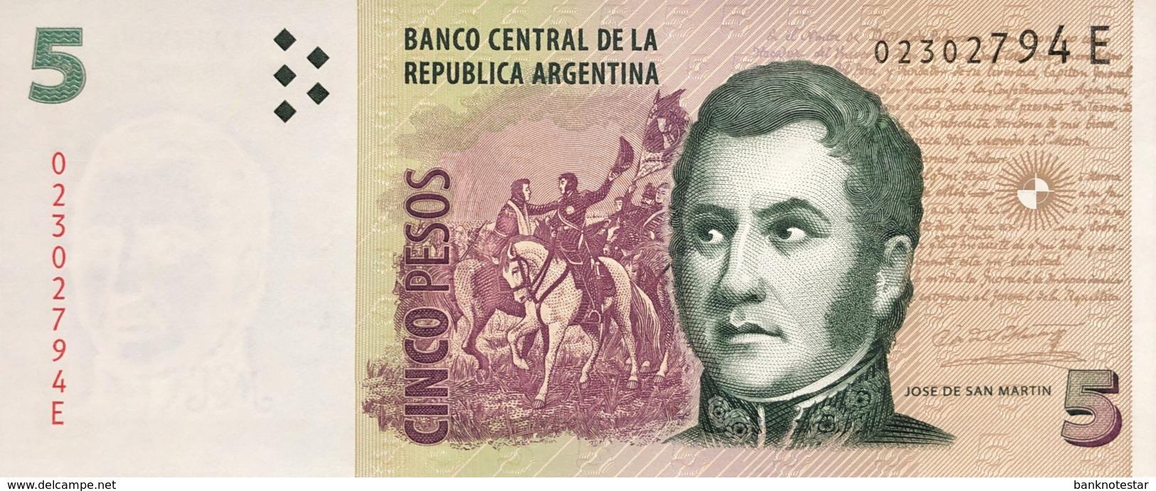 Argentina 5 Pesos, P-353a (2003) - UNC - Serie E - Argentine