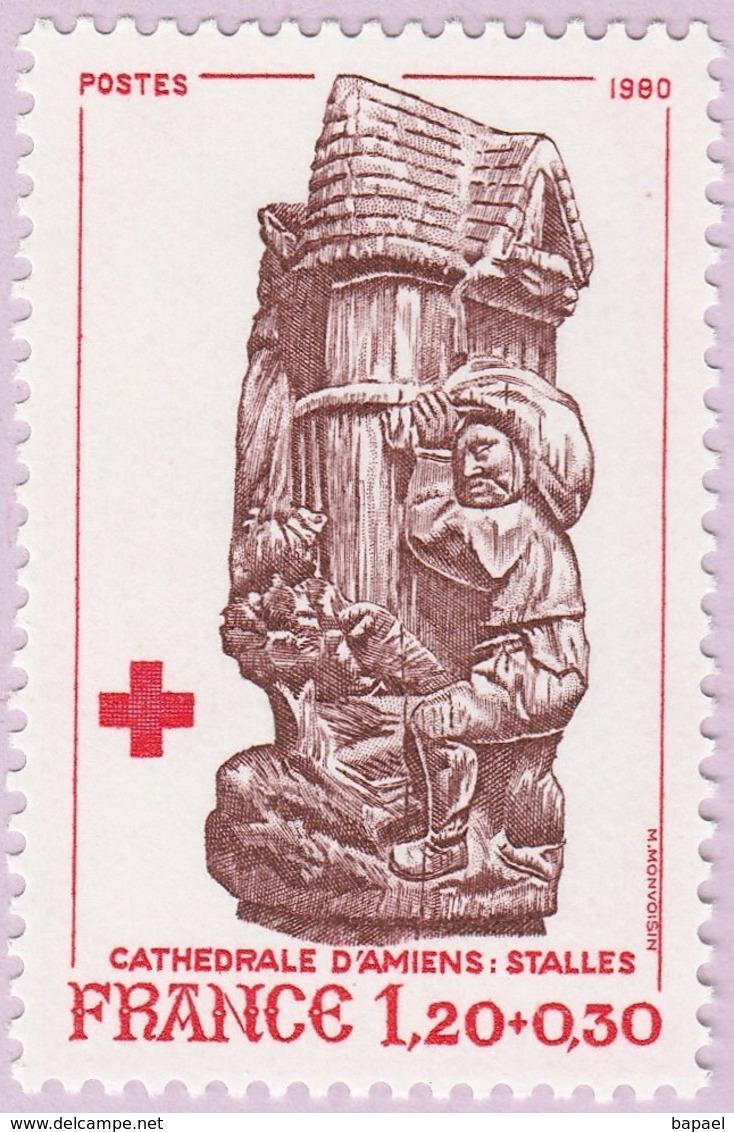 N° Yvert & Tellier 2116 - Timbre De France (Année 1980) - MNH - Croix Rouge - Remplissage Des Greniers (Amiens) - Francia