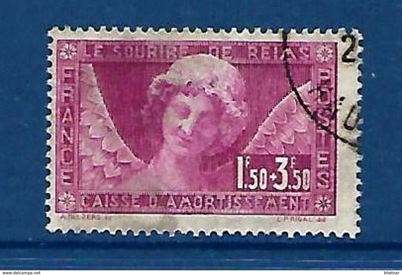 """FR YT 256  """" Caisse Amortissement : L'ange Au Sourire """" 1930 Oblitéré - Sinking Fund"""