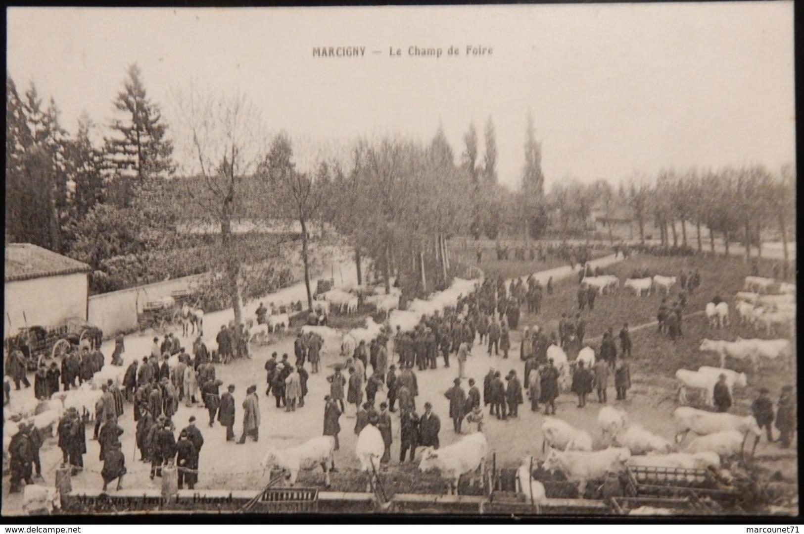 71 CPA MARCIGNY LE CHAMP DE FOIRE 1917 - France