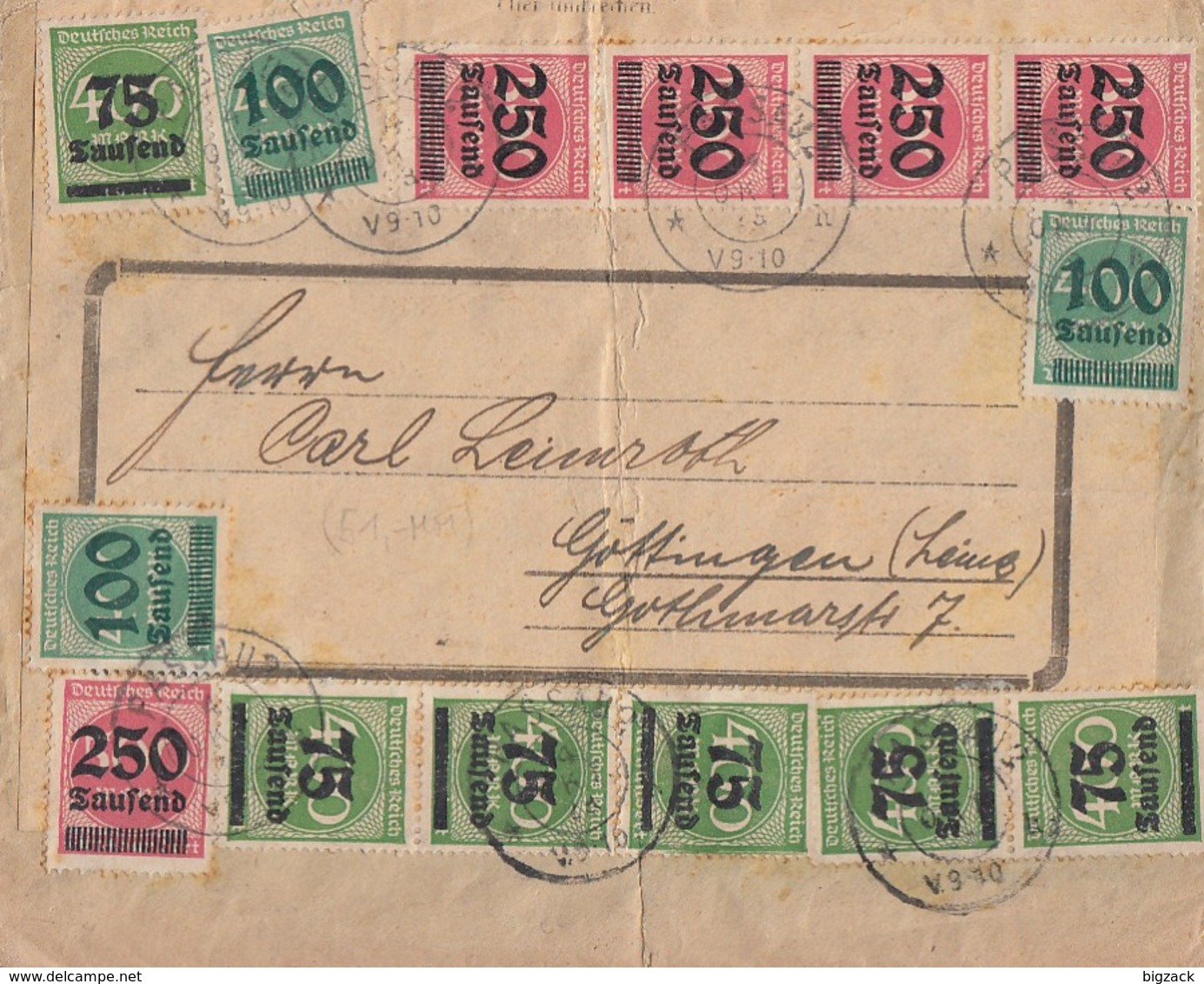 DR Brief Mif Minr.6x 287,3x 290,5x 295 Passau 4.10.23 - Briefe U. Dokumente