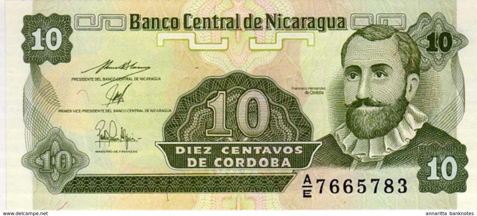 NICARAGUA 10 CENTAVOS ND (1990) P-169 NEUF PRÉFIXE A/E [NI463b] - Nicaragua