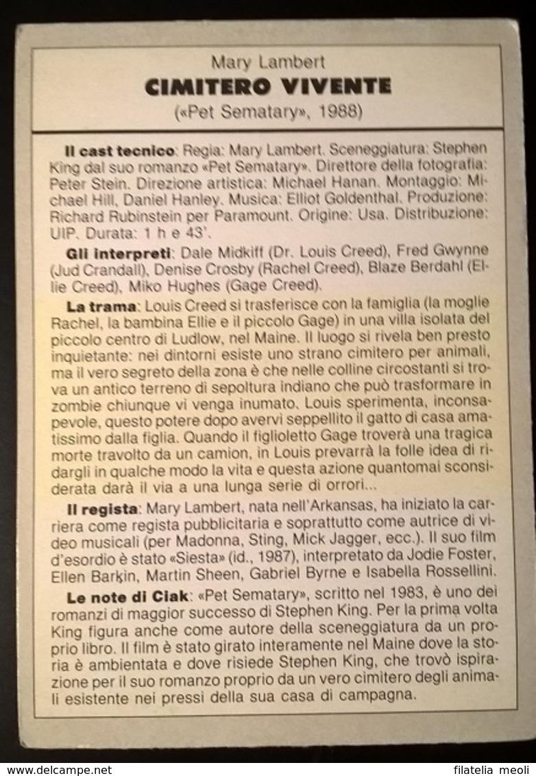 SCHEDA CIAK CIMITERO VIVENTE - Cinemania