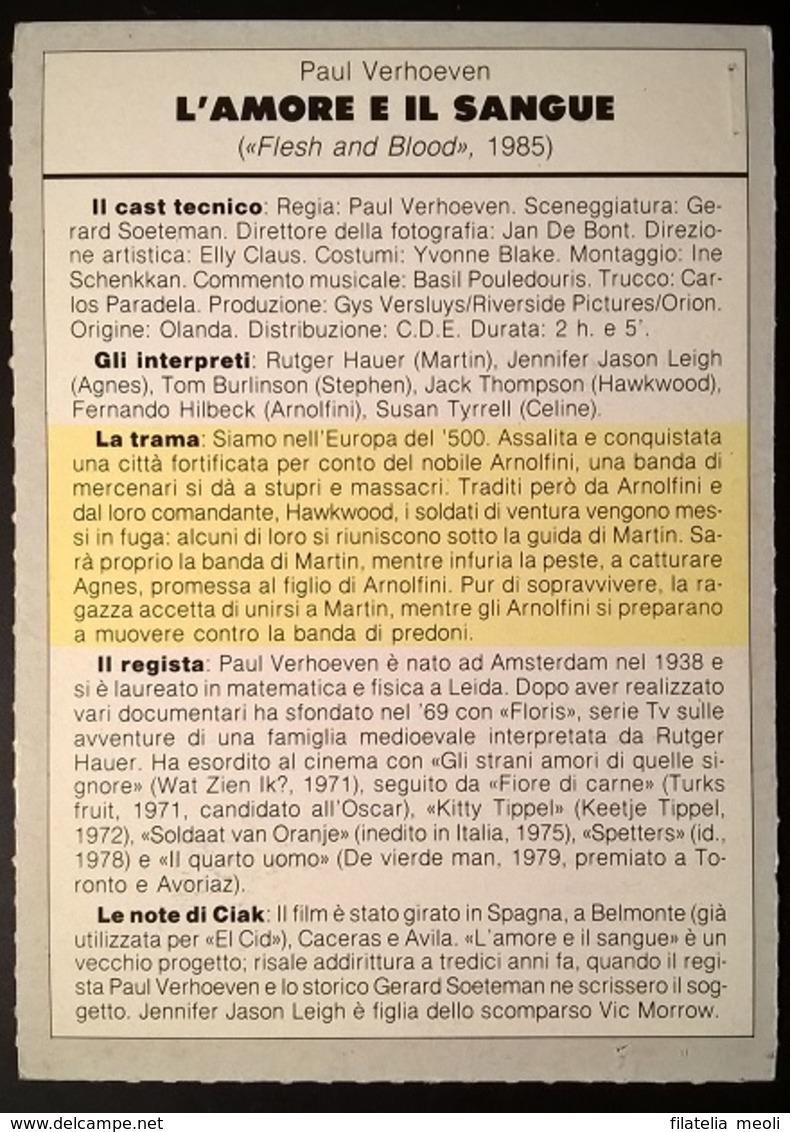 SCHEDA CIAK L'AMORE E IL SANGUE - Cinemania
