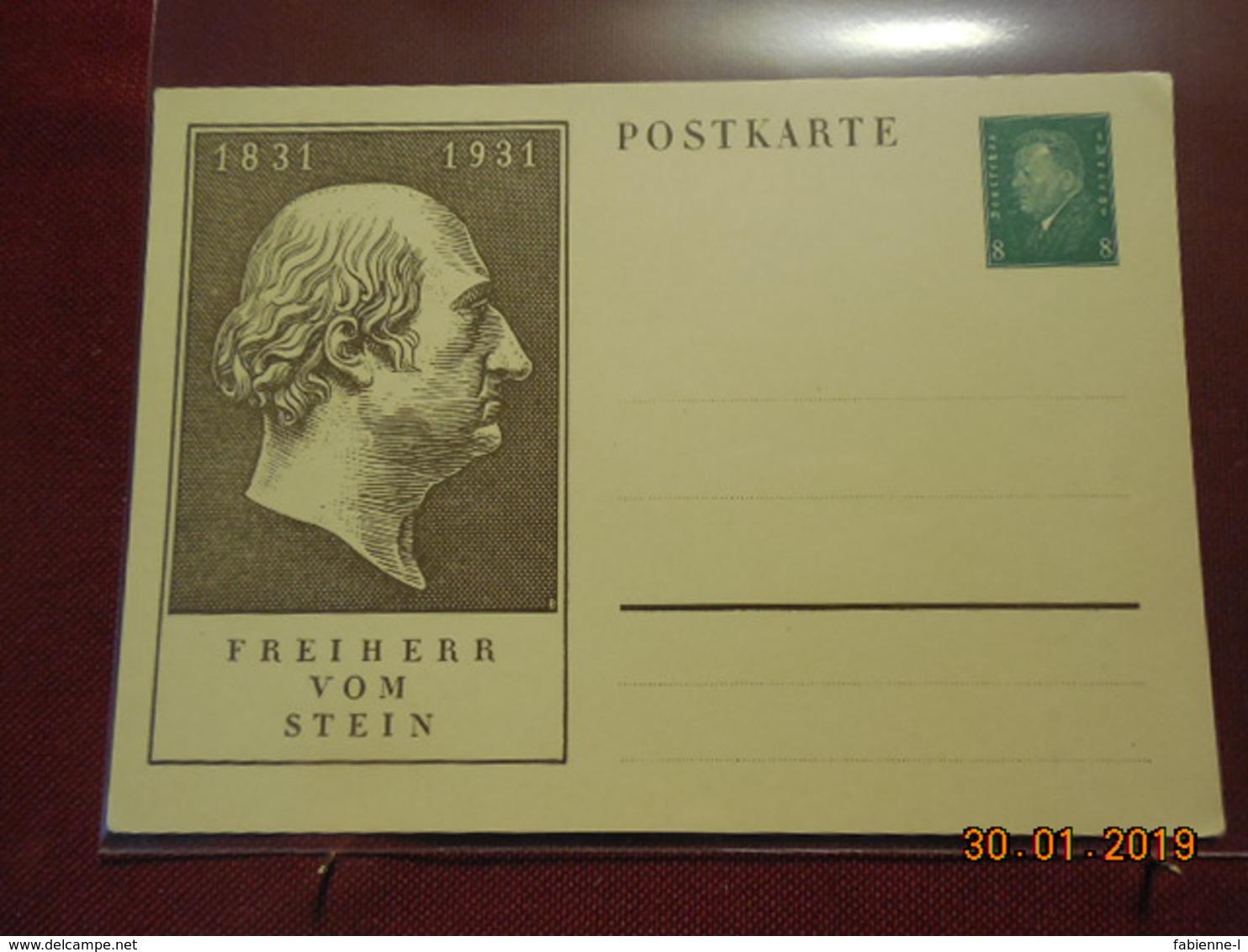 Entier Postal D Allemagne Illustré - Deutschland