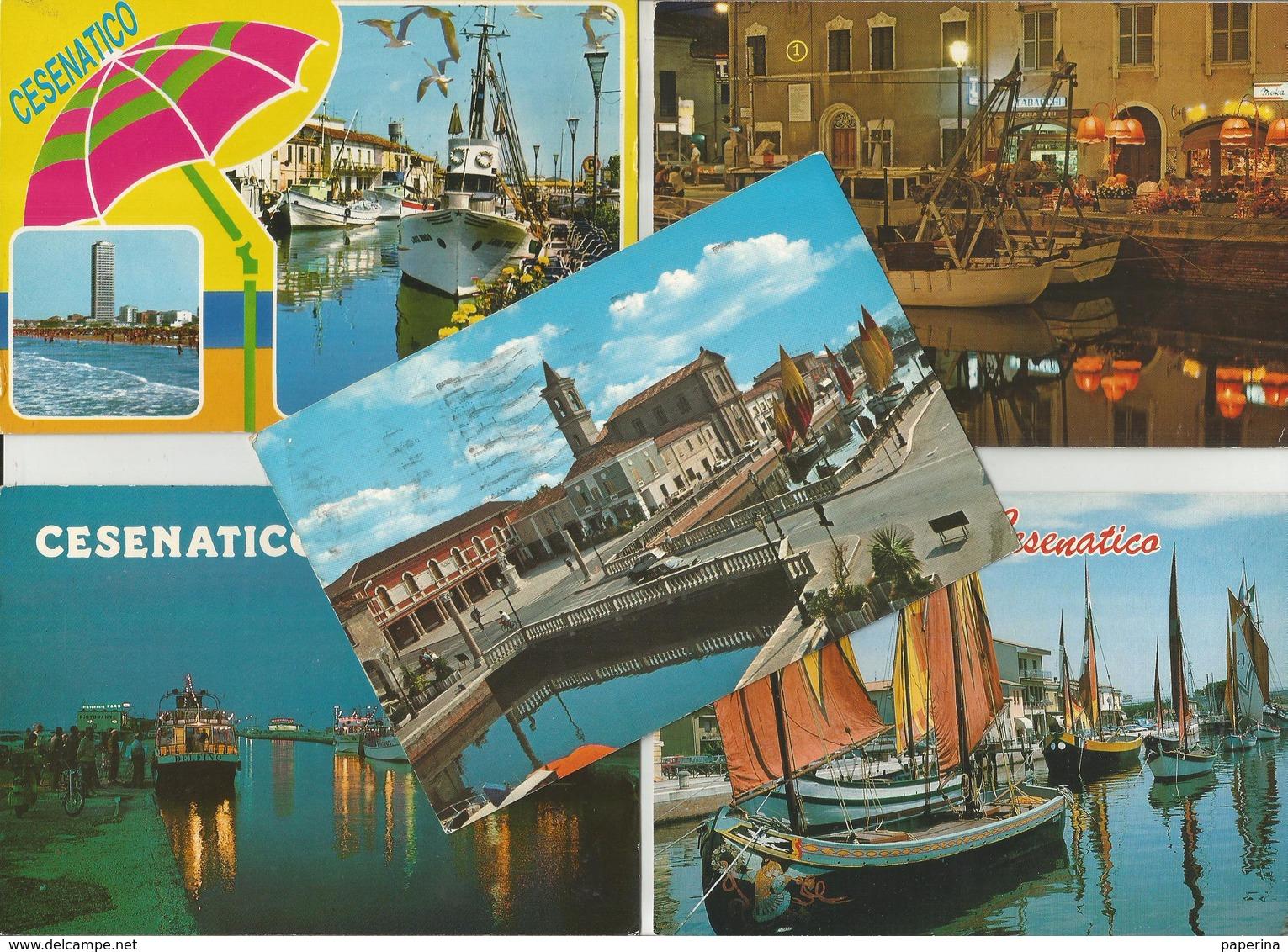 5 CARTOLINE CESENATICO  (717) - Cartoline
