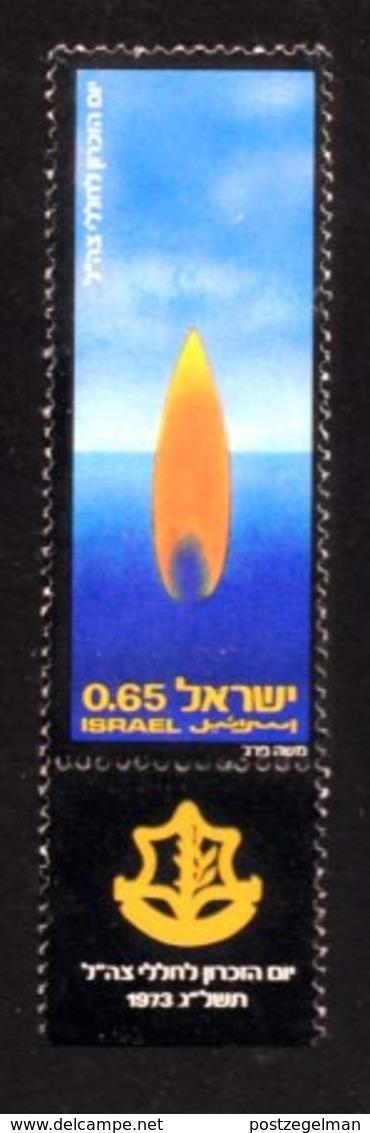 ISRAEL, 1973, Unused Hinged Stamp(s), With Tab, Memorial Day, SG Number 559, Scan Number 17434, - Israel