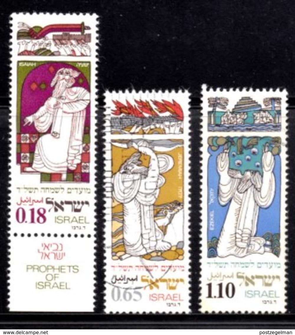 ISRAEL, 1973, Unused Hinged Stamp(s), With Tab, New Year Prophets, SG Number 564-566, Scan Number 17437,   Partly Used - Israel