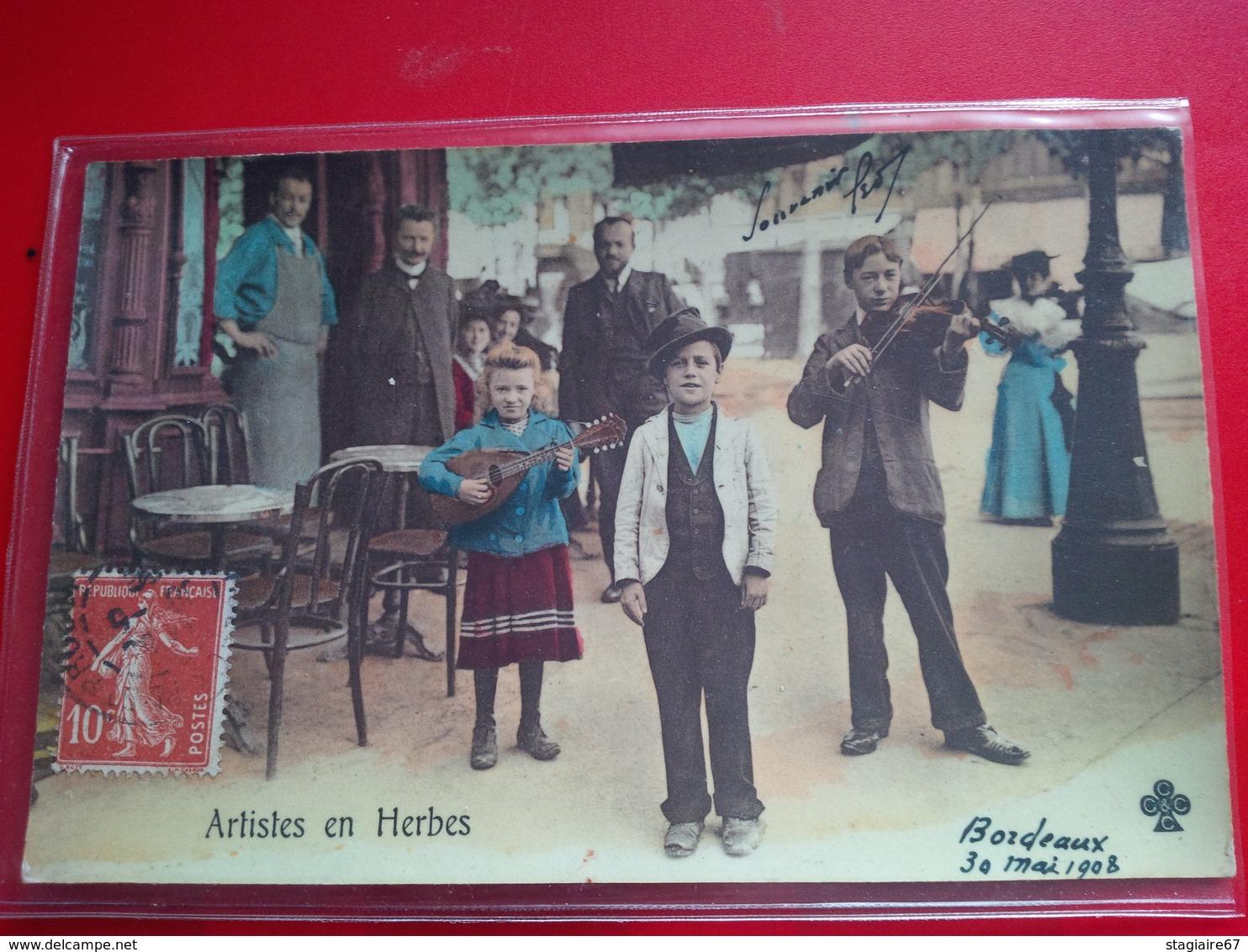 BORDEAUX ARTISTE EN HERBES METIER MUSICIEN 1908 - Bordeaux