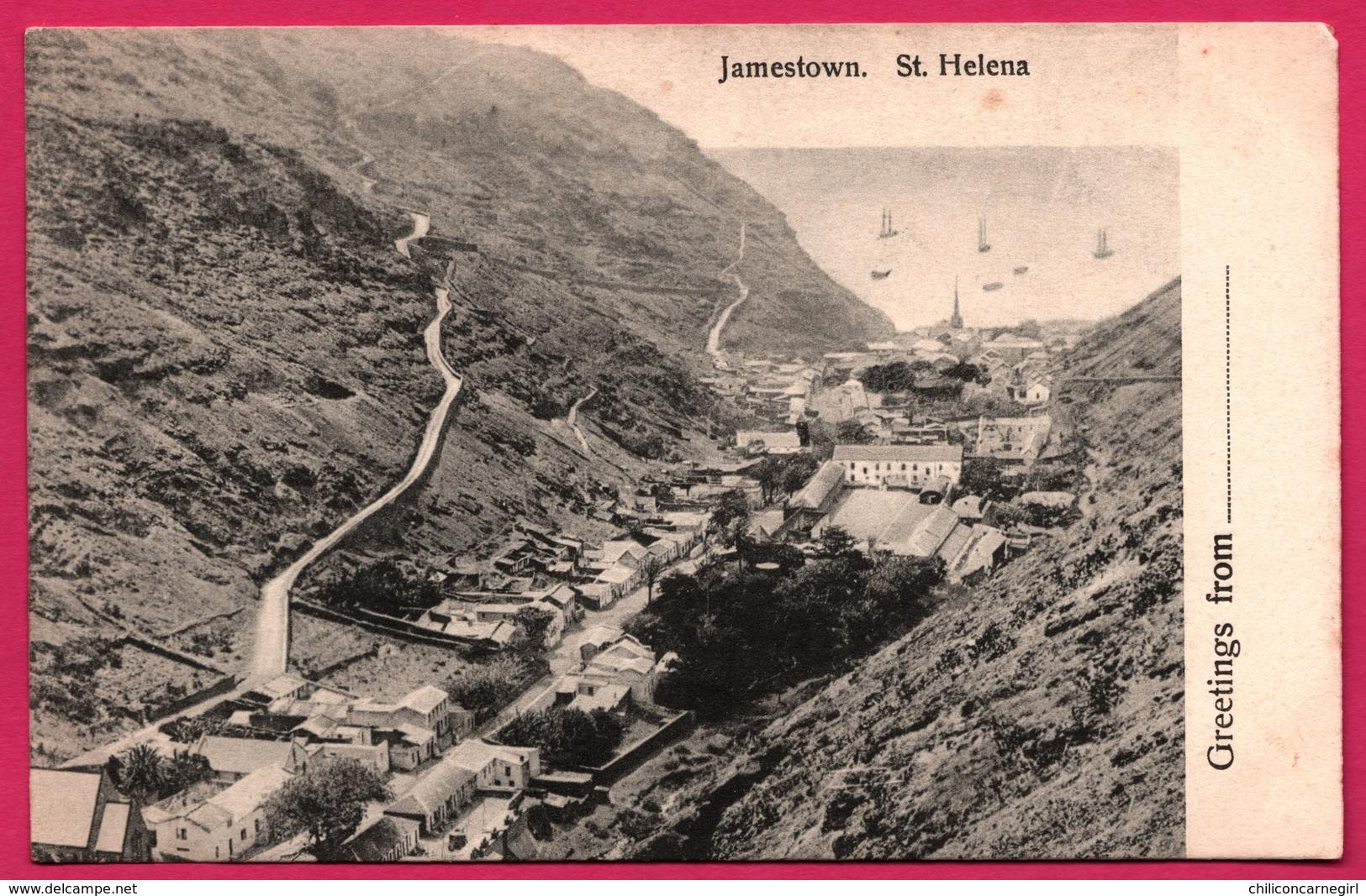 Greetings From St. Helena - Jamestown - T. JACKSON - Saint Helena Island