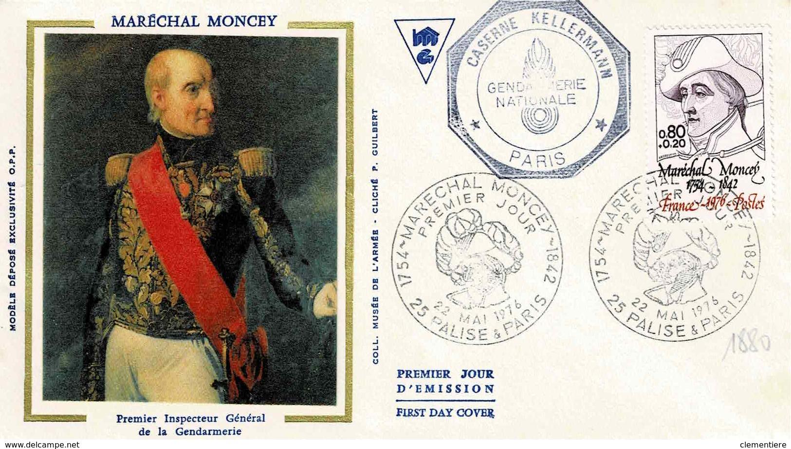 TP N° 1880 Seul Sur Enveloppe 1er Jour De La Caserne Kellermann De Paris - Marcophilie (Lettres)