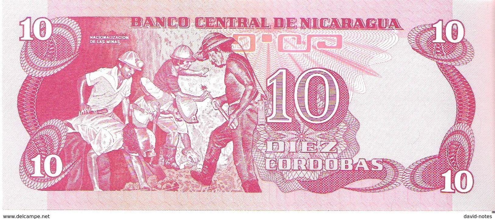Nicaragua - Pick 134 - 10 Cordobas 1979 - Unc - Nicaragua