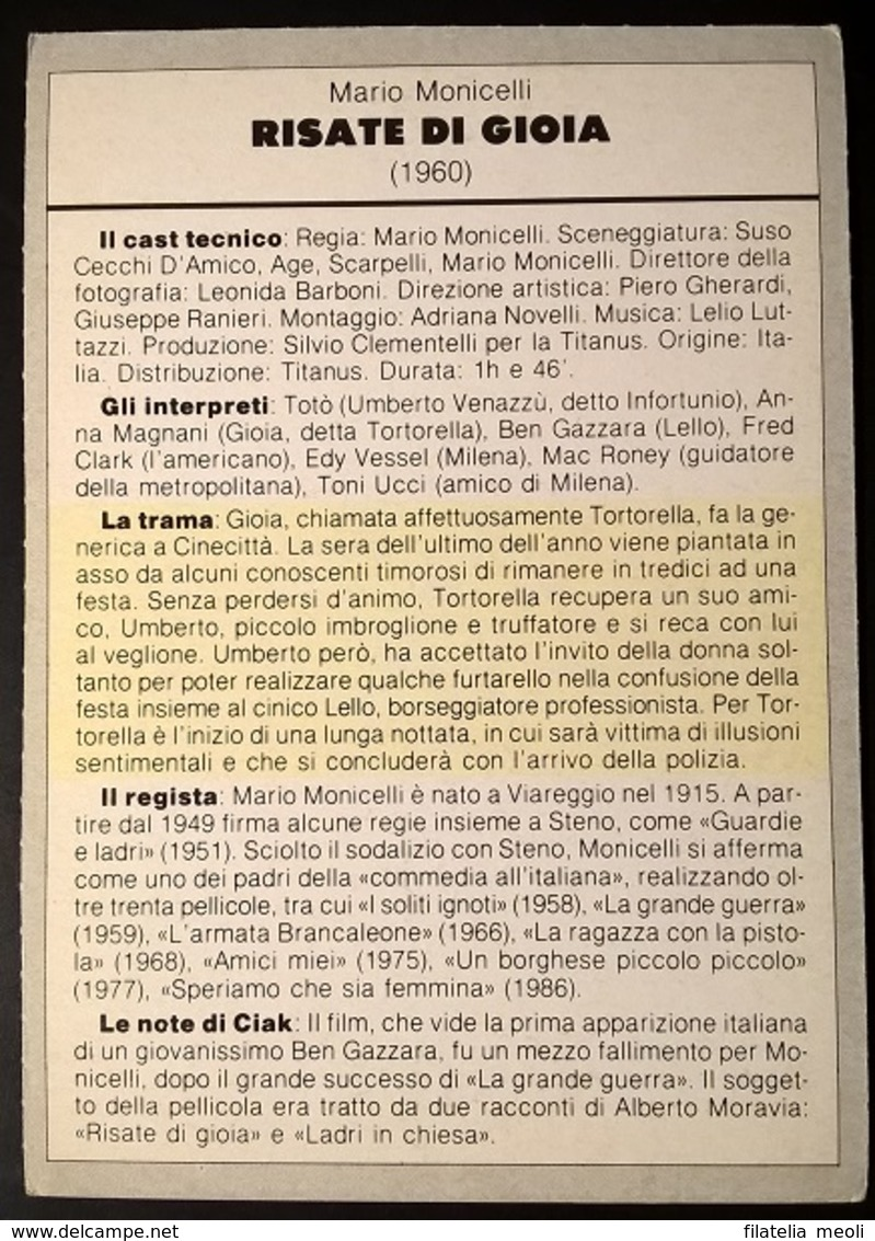 SCHEDA CIAK RISATE DI GIOIA - Cinemania