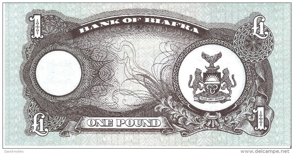 Biafra - Pick 5a - 1 Pound 1968 - Unc - Banconote