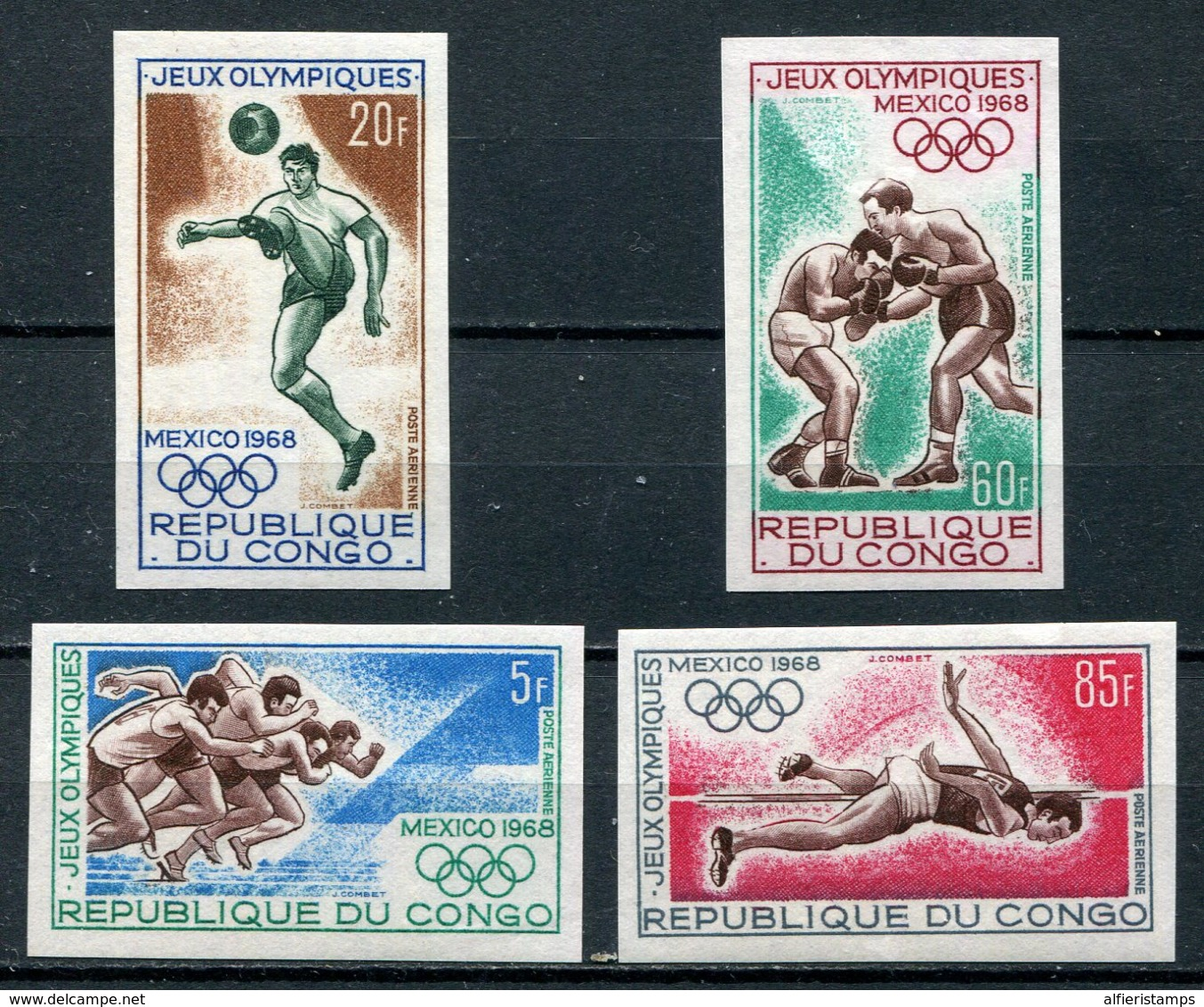 1966-CONGO- OLYMPIC'S MEXICO-IMPERF. -M.N.H. - 4 VAL. LUXE !! - Neufs