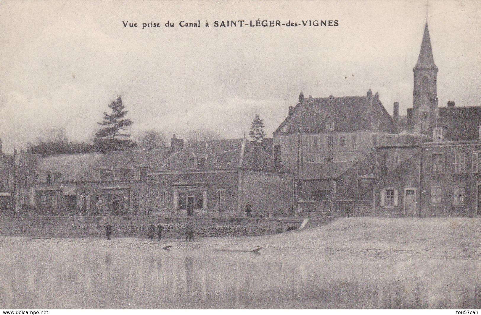 SAINT LEGER DES VIGNES - NIEVRE - (58) - PEU COURANTE CPA DE 1917. - France