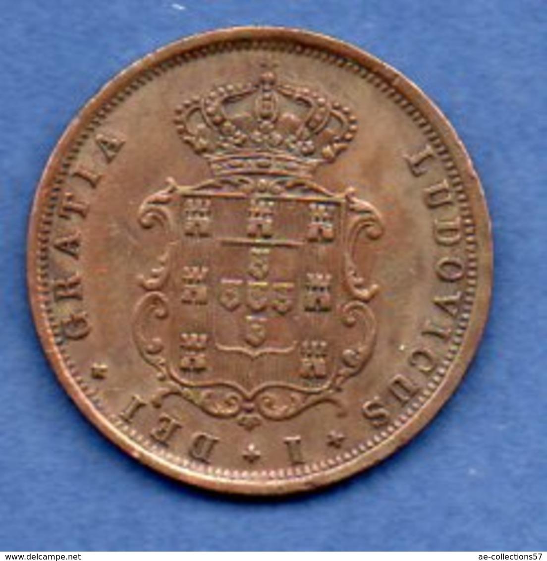 Portugal   - 5 Reis 1868   -  Km # 513  - état TTB -  1 Coup Tranche - Portugal