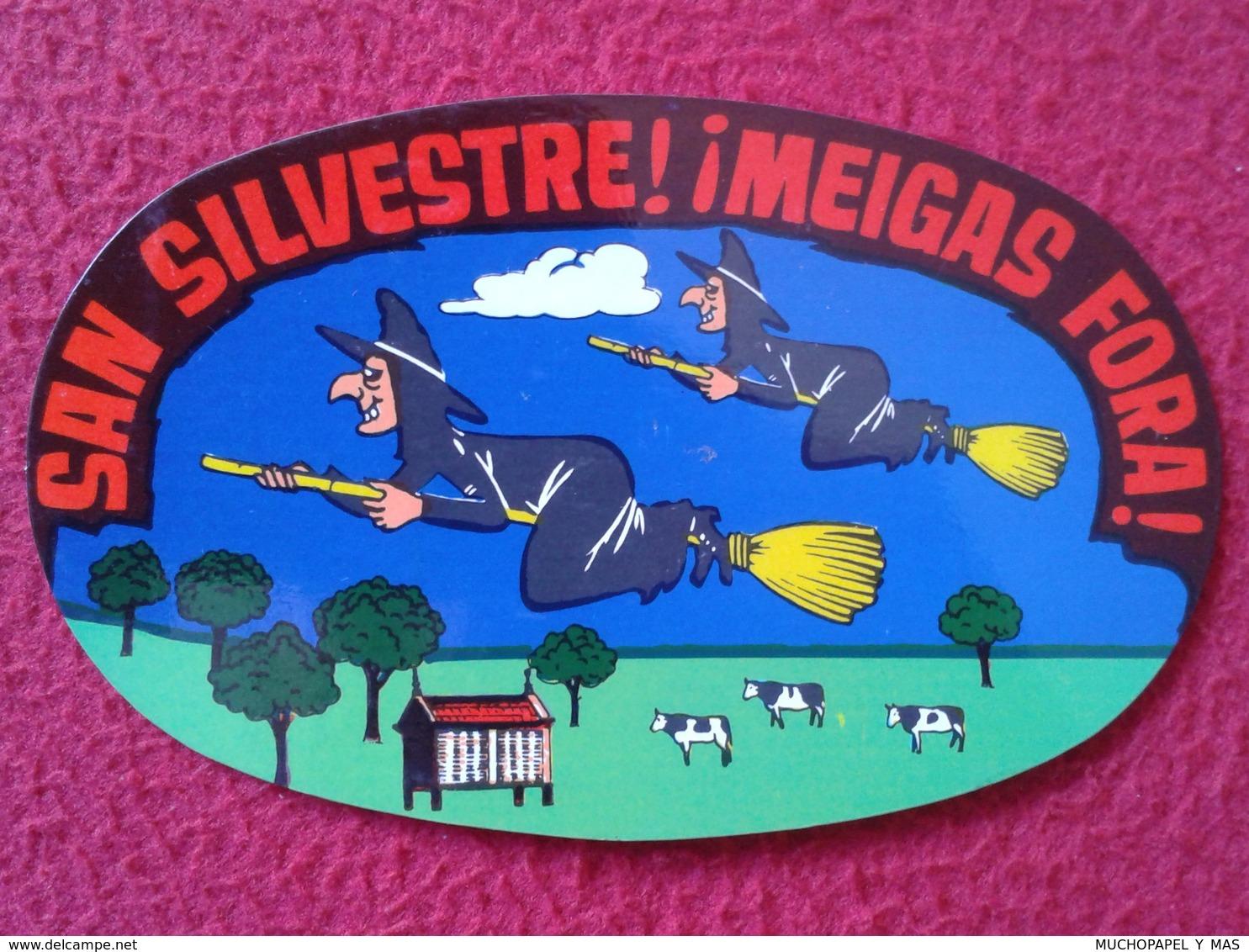 SPAIN CROMO OLD COLLECTIBLE CARD O SIMILAR BRUJA BRUJAS EN ESCOBA SAN SILVESTRE MEIGAS FORA GALICIA WITCH HEXE SORCIÈRE - Cromos