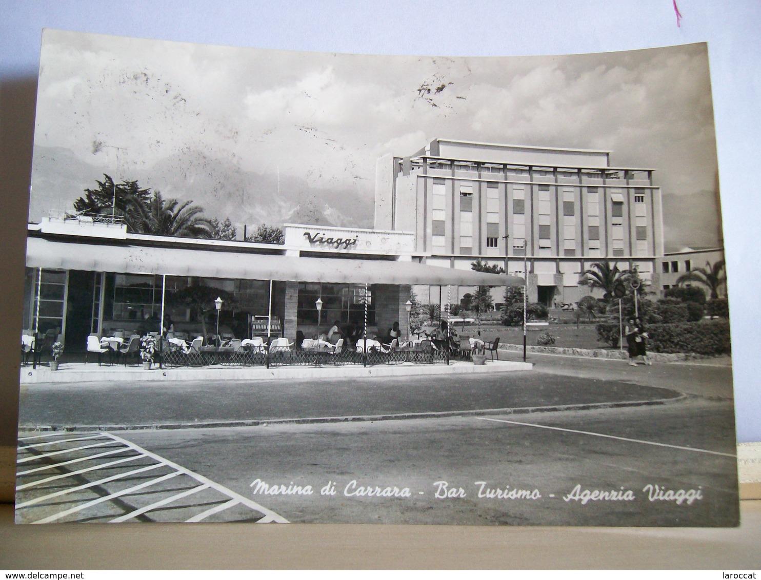 1958 - Marina Di Carrara - Massa  - Bar Turismo - Agenzia Viaggi - Animata - Vera Fotografia - Carrara