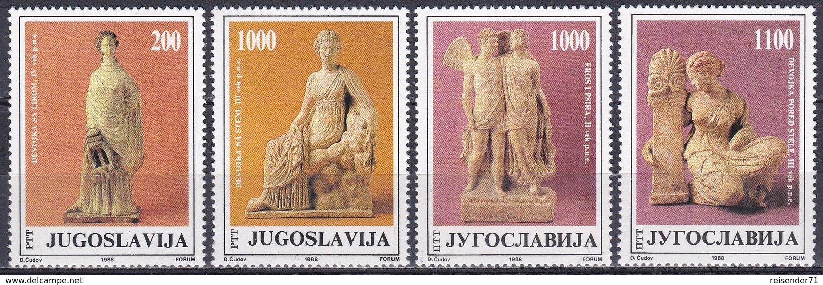 Jugoslawien Jugoslavia 1988 Kunst Arts Kultur Culture Terrakotta Terracotta Figuren Figures Josip Tito, Mi. 2307-0 ** - 1945-1992 Socialist Federal Republic Of Yugoslavia