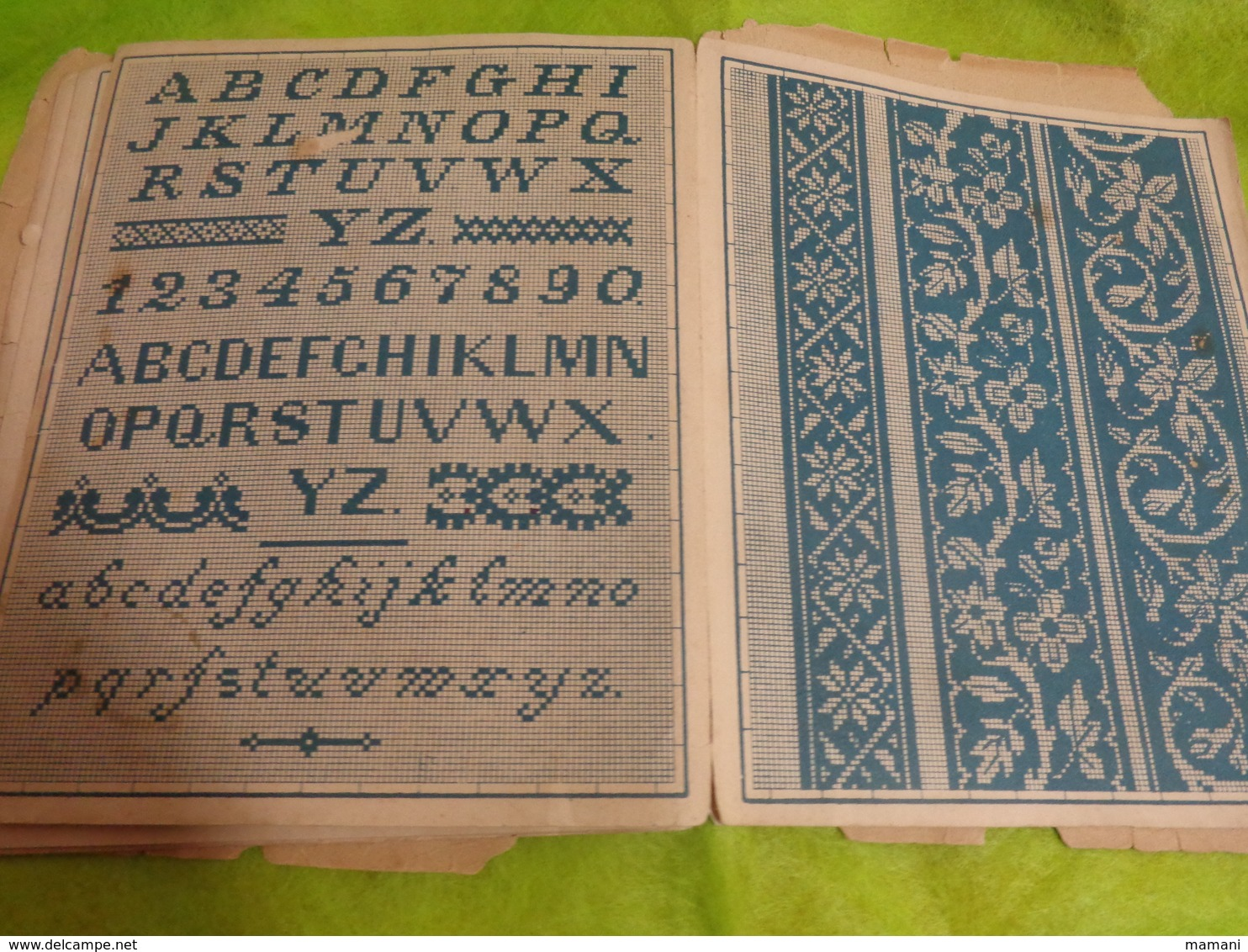 Album Dessins Alphabets+divers 10 Pages-22x16 Cm Environ-neuheiten In Stick Album Novelty Embroidery Patterns Type Sajou - Loisirs Créatifs