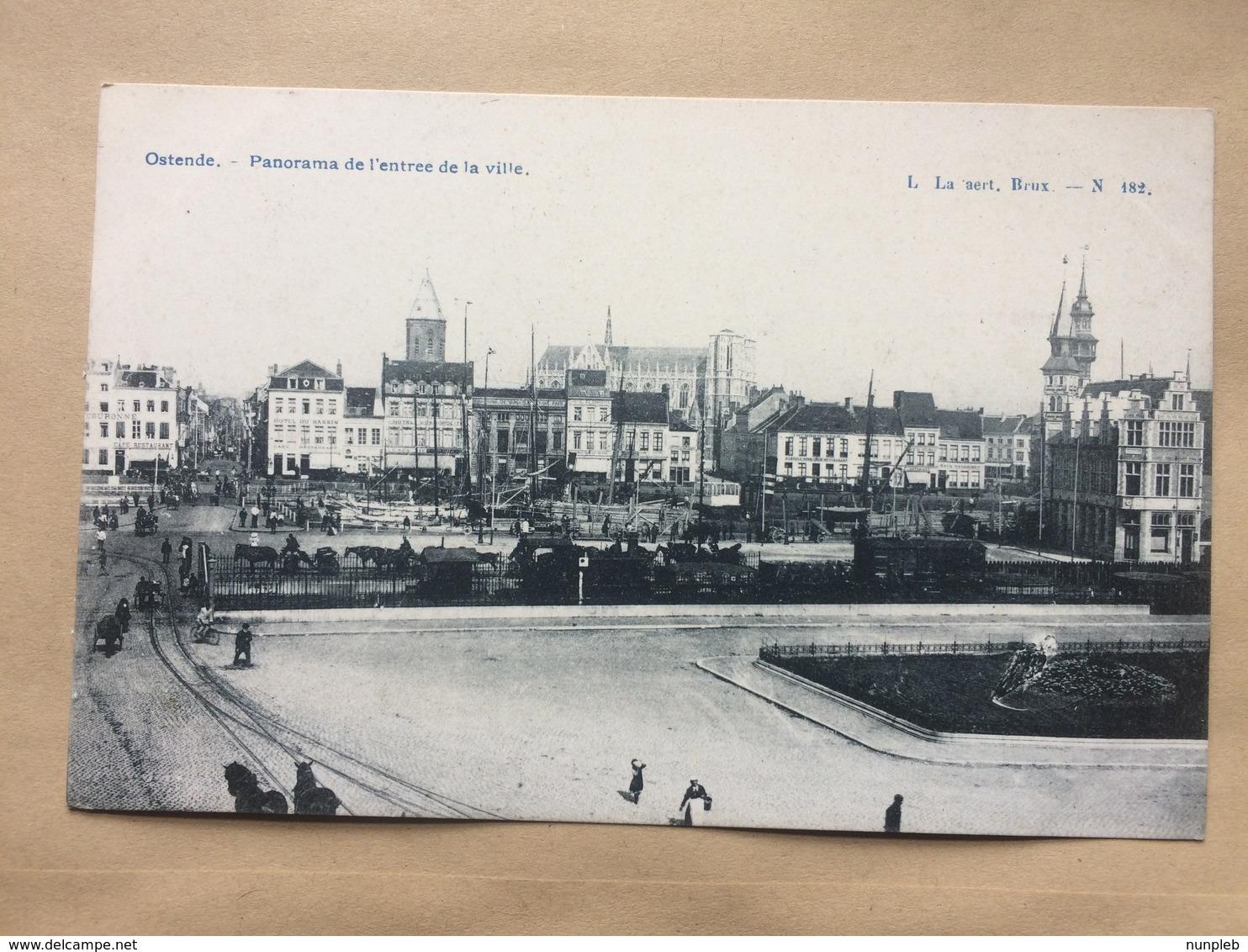 BELGIUM - Oostende Ostend - Panorama De L`entree De La Ville - La Aert Brux N.182 - Oostende