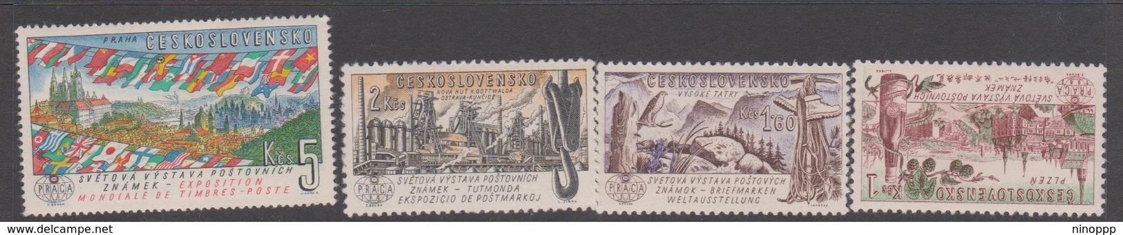 Czechoslovakia Scott 1070-79 1961 Praga 62 Philatelic Exhibition 3rd Issue 4 Stamps, Mint Never Hinged - Czechoslovakia
