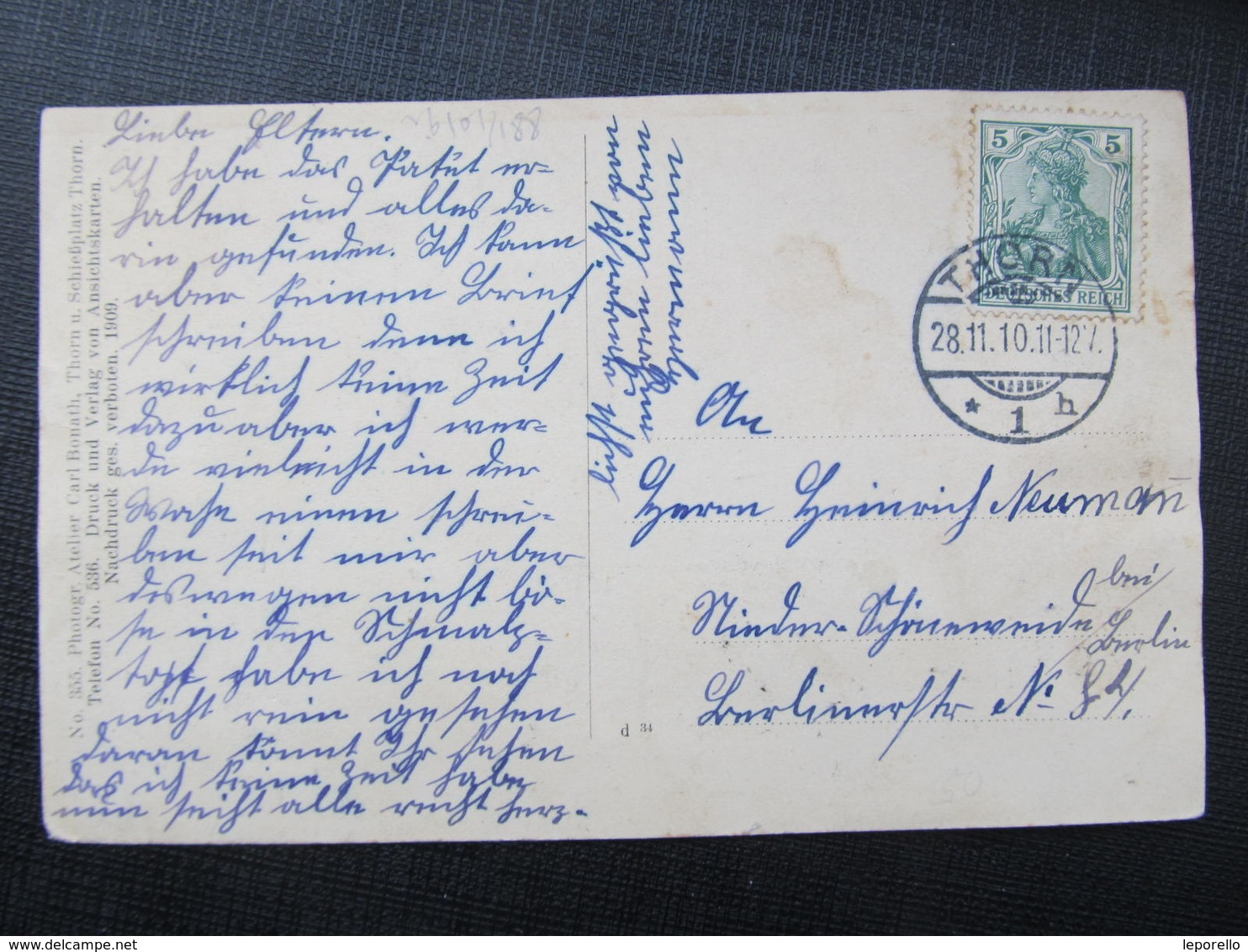 AK THORN Torun 1910 Kaserne  ///  D*36478 - Pommern