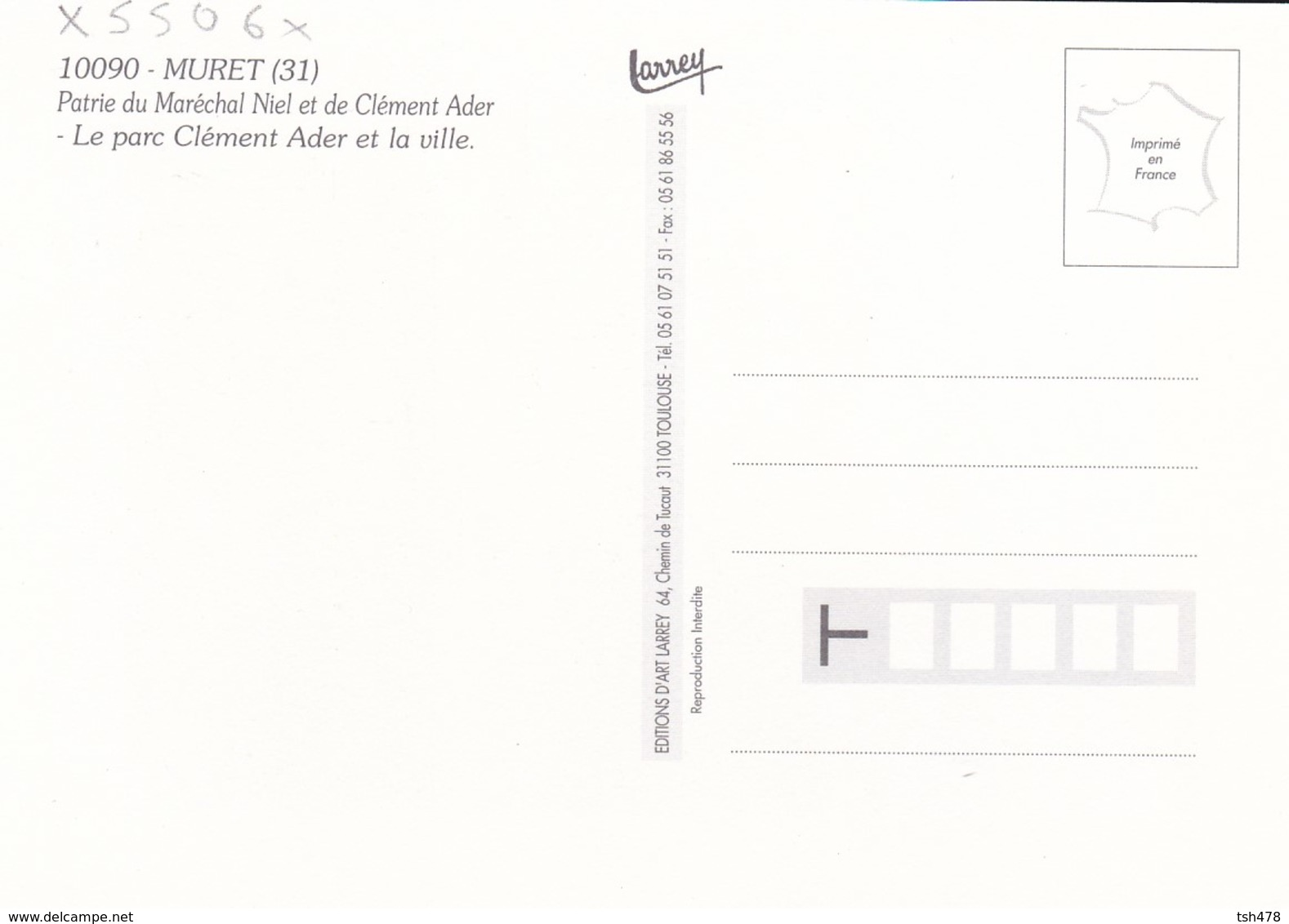 31----MURET--le Parc Clément ADER Et La Ville--patrie Du Maréchal NIEL Et De Clément Ader--voir 2 Scans - Muret