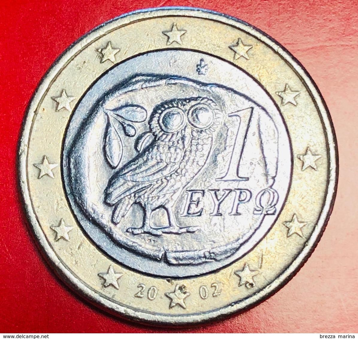 GRECIA - 2002 - Moneta - Civetta - Euro - 1.00 - Grèce