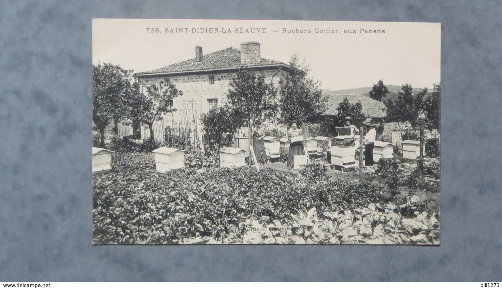 CPA-43-SAINT DIDIER LA SEAUVE-Ruchers Cottier, Aux Panens-Animée - France