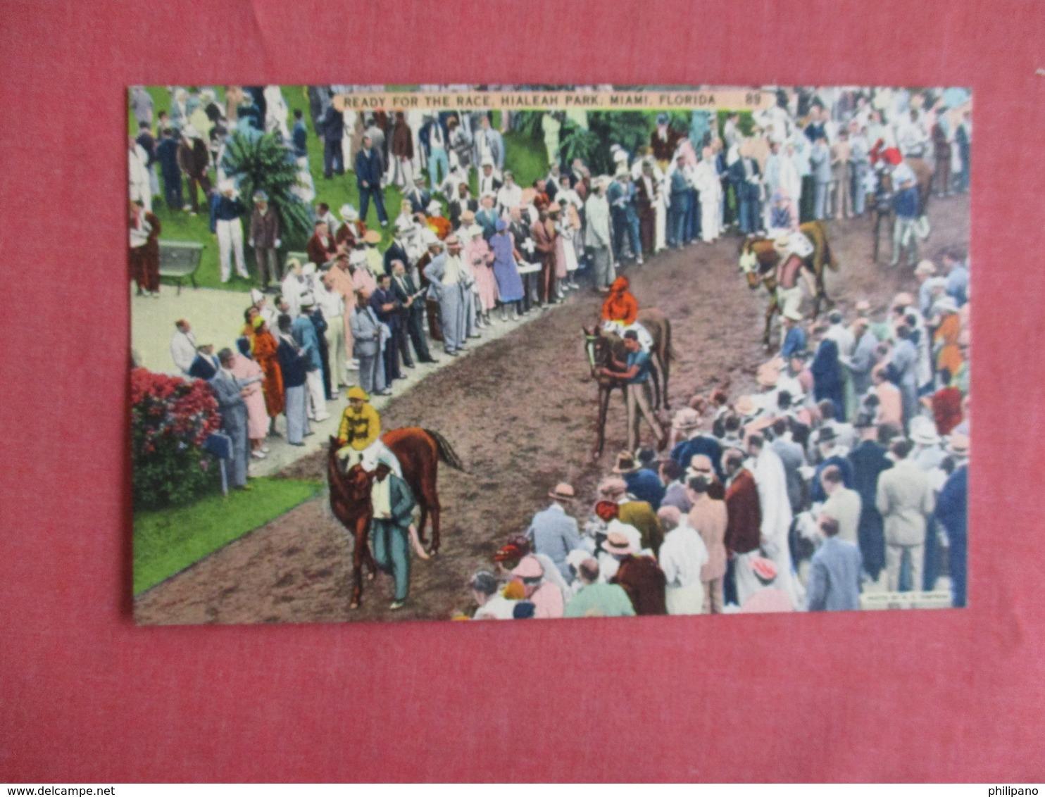 Ready For The Race Hialeah Park Miami Florida  Ref 3150 - Cartes Postales