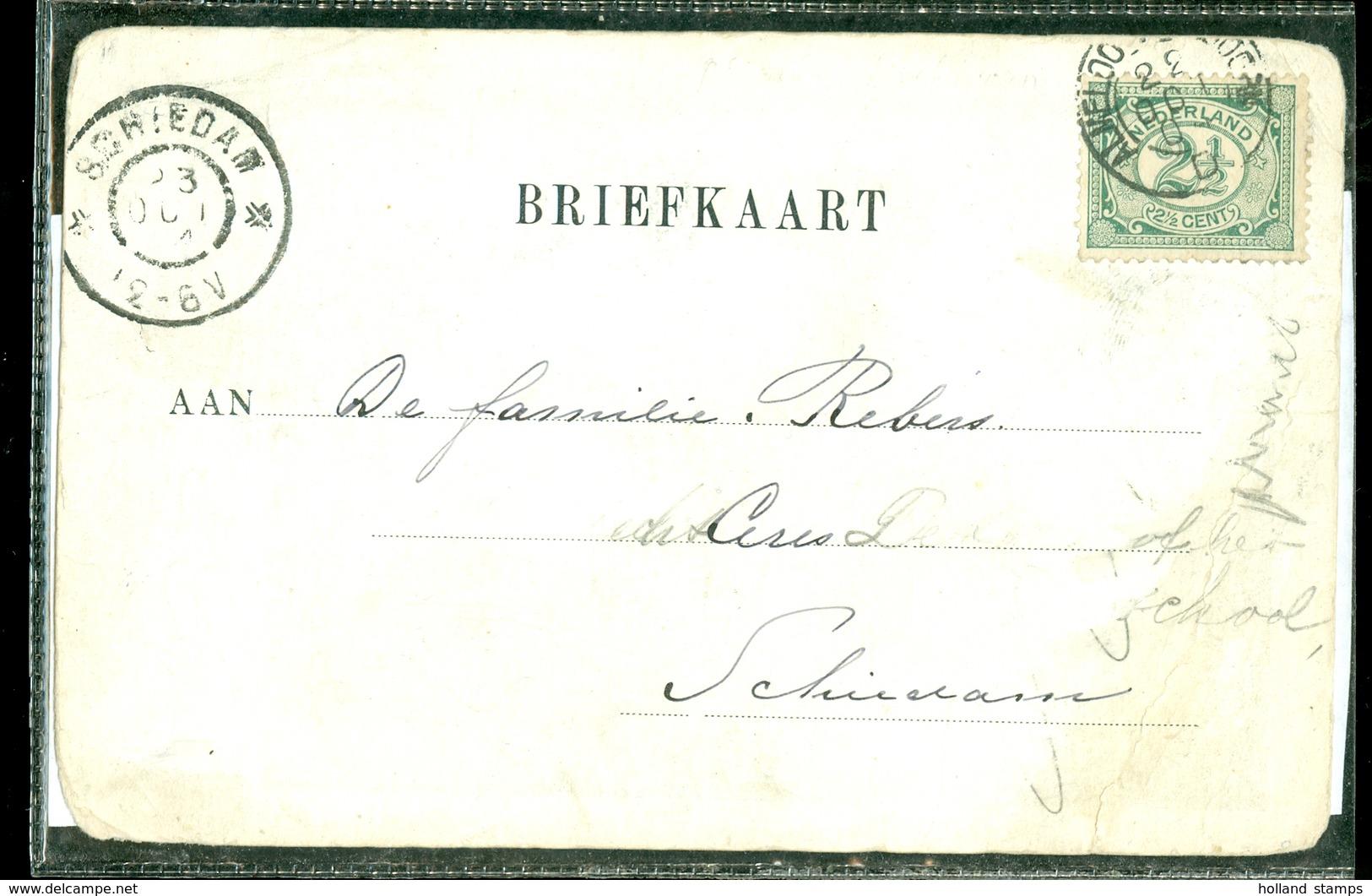 POSTKAART Gelopen In 1904 Van Trajectstempel ALMELO - APELDOORN Naar SCHIEDAM  (11.508a) - Brieven En Documenten