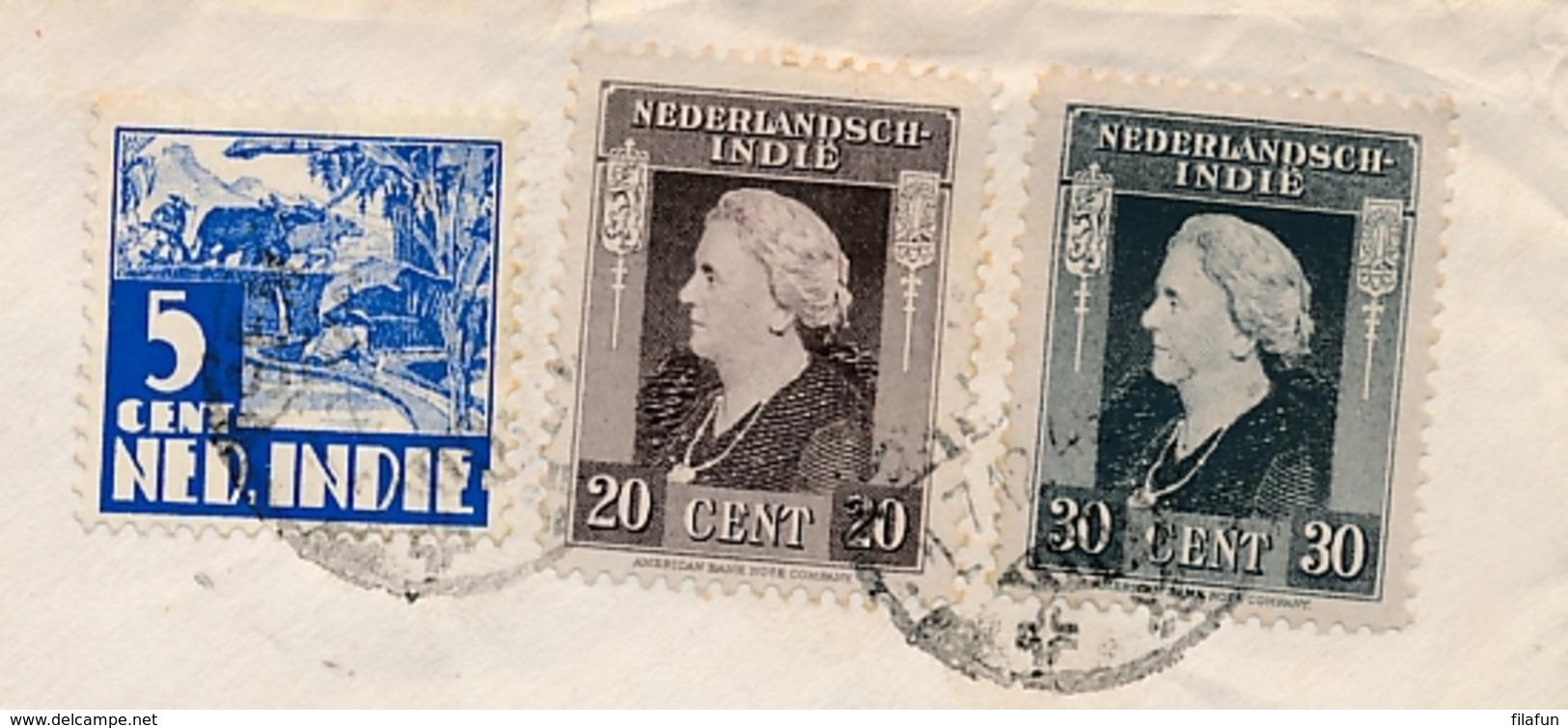 Nederlands Indië - 1948 - 55 Cent Frankering Op Brief Van Nederlandse Militair Van Semarang Naar Amsterdam - Nederlands-Indië