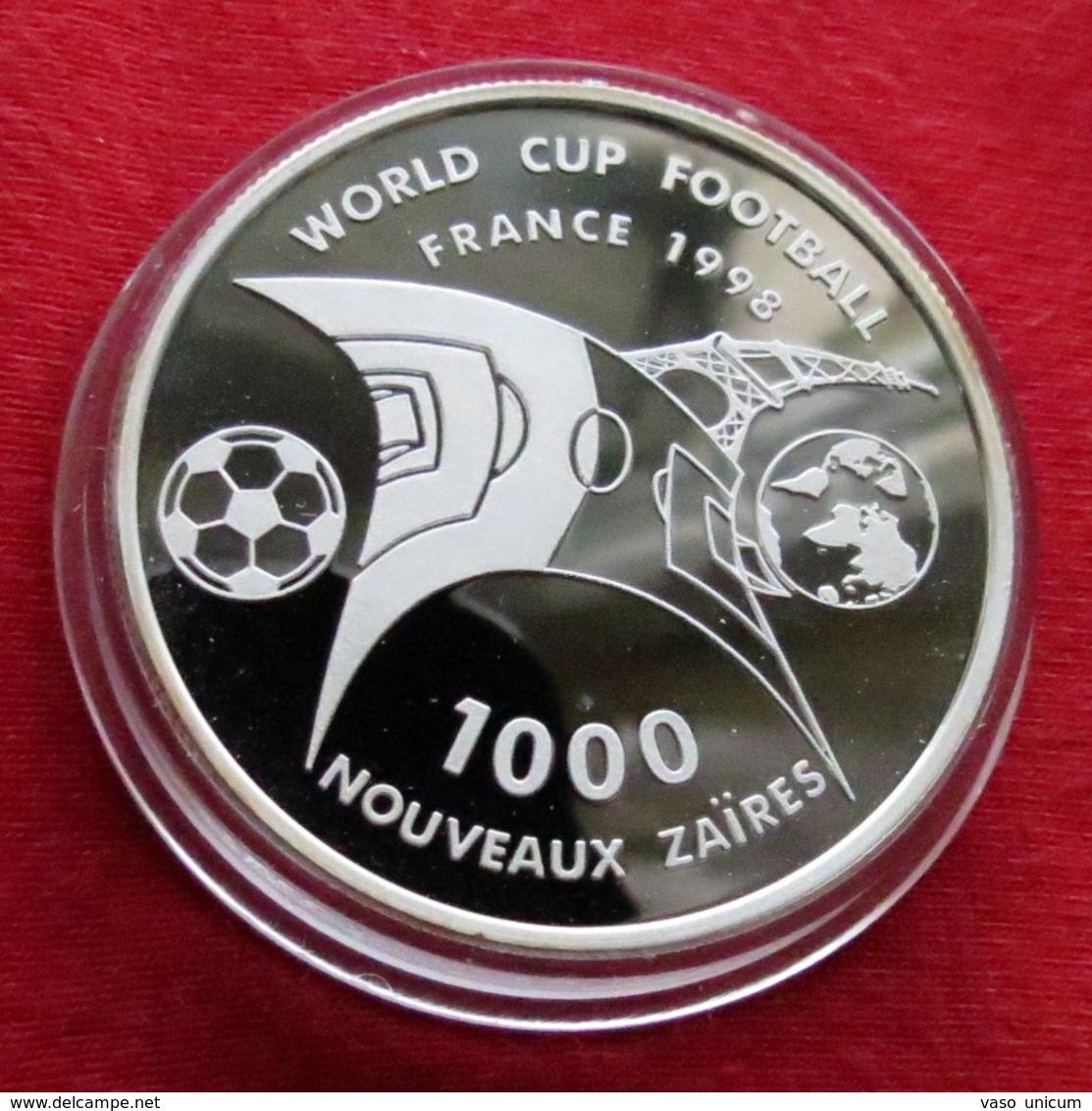 Zaire 1000 Francs 1997 Football Soccer France 1998 - Zaire (1971-97)