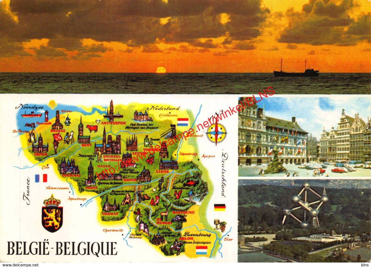 Landkaart - België-Belgique - Belgique