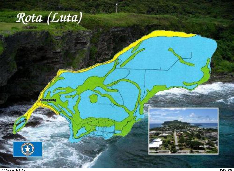Northern Mariana Islands Rota Island Map New Postcard - Marianen