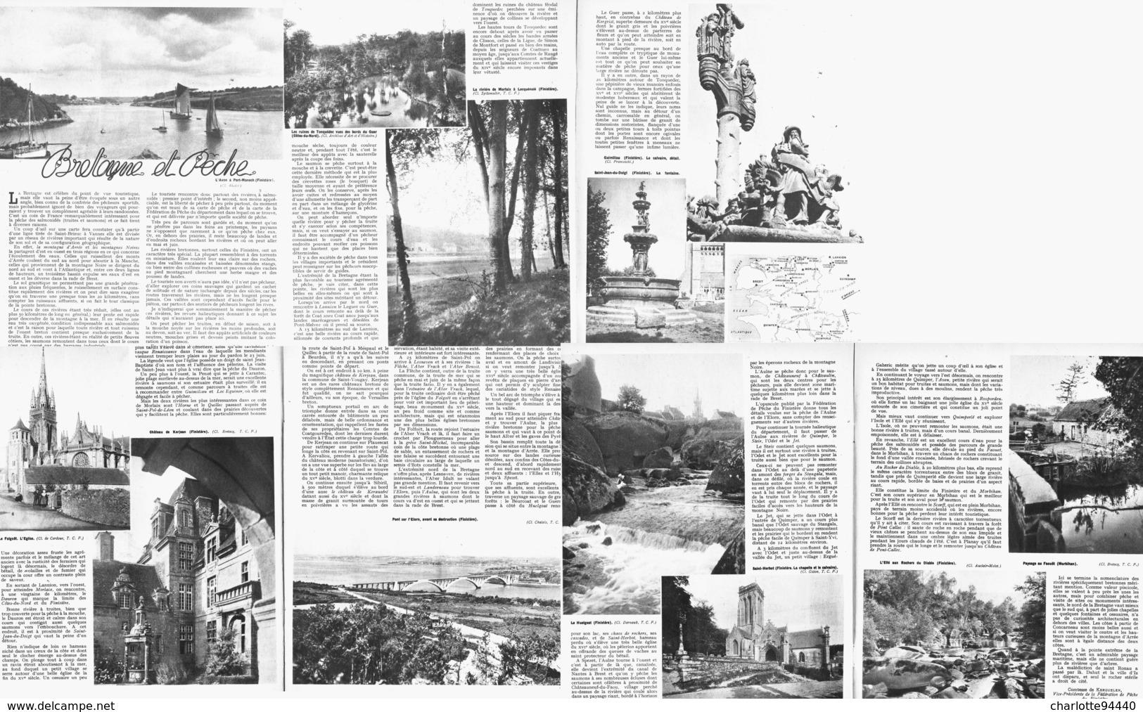BRETAGNE Et PECHE ( PORT-MANECH / GUIMILIAU / STJEAN-DU-DOIGT / ELEORN / KERJEAN/FOLGOET / ST HERBOT / FAOUET ) 1947 - Bretagne