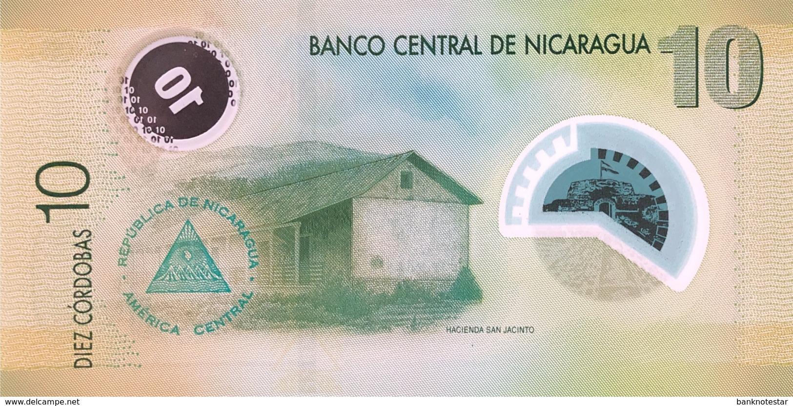 Nicaragua 10 Cordobas, P-201b (2012) - UNC - Nicaragua
