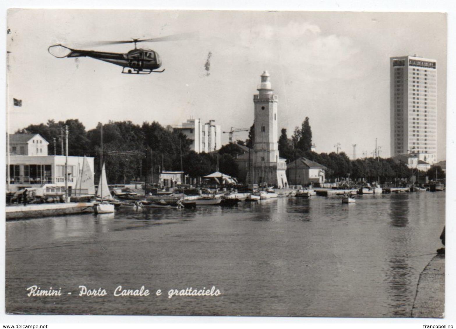 RIMINI - PORTO CANALE E GRATTACIELO / HELICOPTER / ELICOTTERO - Rimini